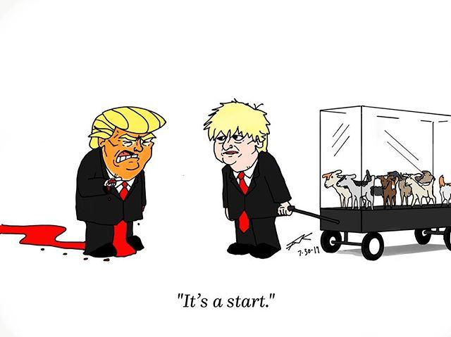 I've been frozen by everything it's become chilling. #moscowmitch #aoc#mueller#orange45#collusion#washingtondc#artistsofatlanta#editorialillustration#illustration#sketch#pineapple#nbcnews#cbsnews#cnn#forbes#abcnews#pbs#npr#resiststice#kavanaugh#illegitamatepresident#tnycartoons#politicalcartoon#politicalmemes#cartoon#ukpolitics#borisjohnson