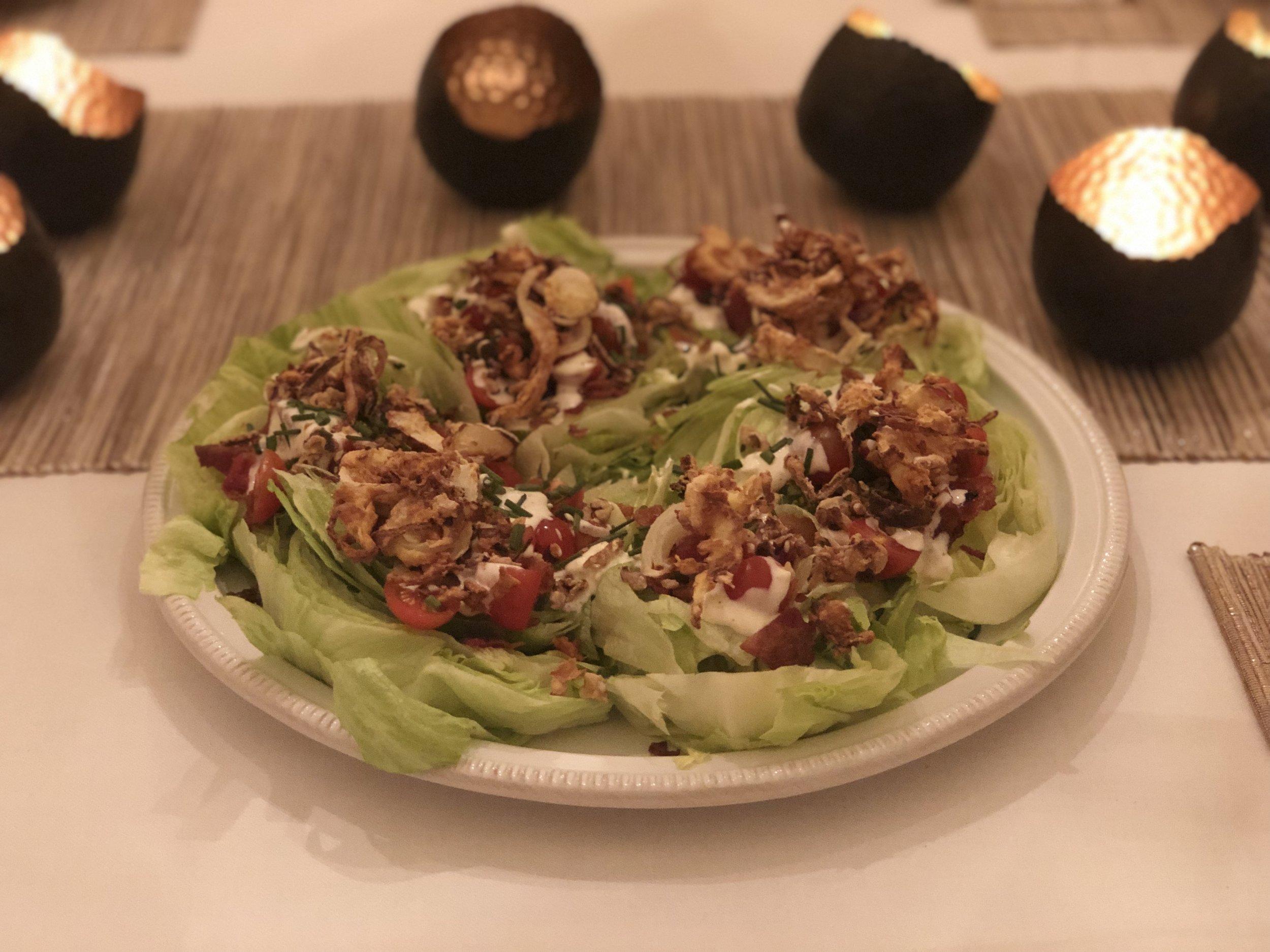 BLT Wedge Salads W Crispy Onions - Recipe Coming Soon!