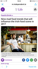 The Irish Independent, Nine mad food trends that will influence the Irish food scene in 2017