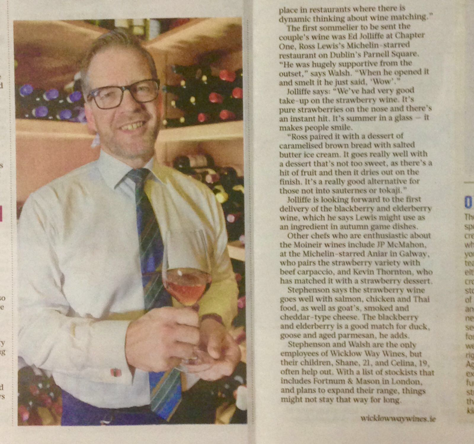 Ed Joliffe, Chapter One, Móinéir strawberry wine by Wicklow Way Wines.png