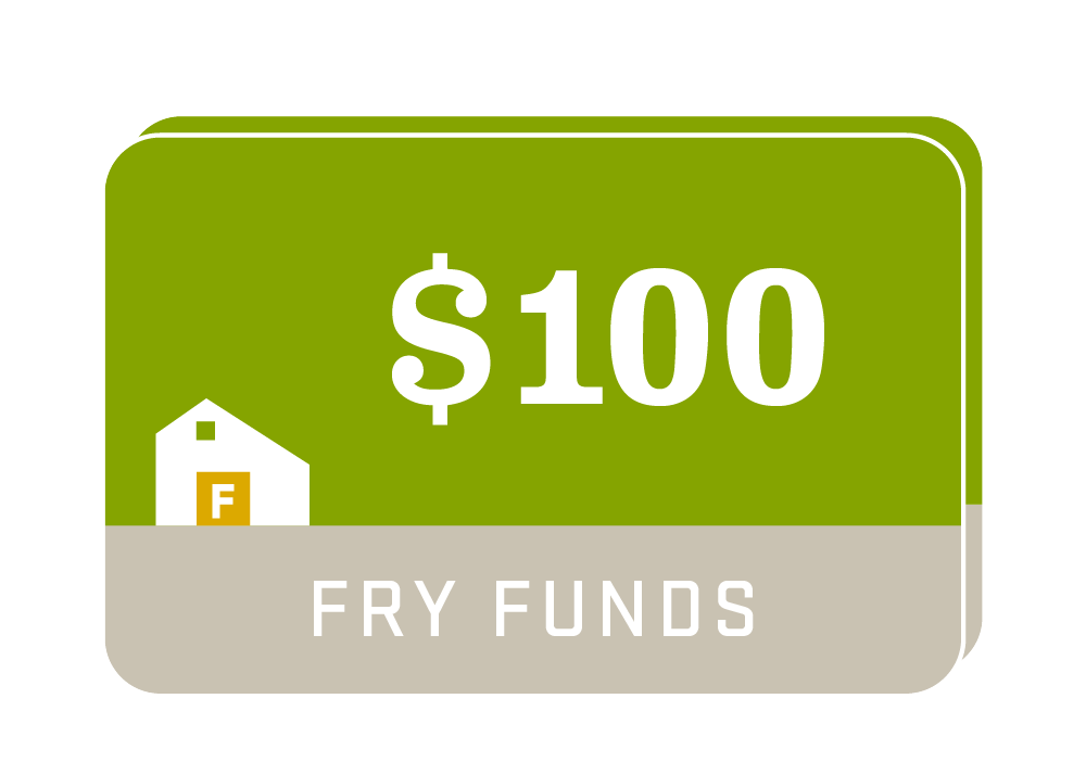 Fry Family Farm funds $100