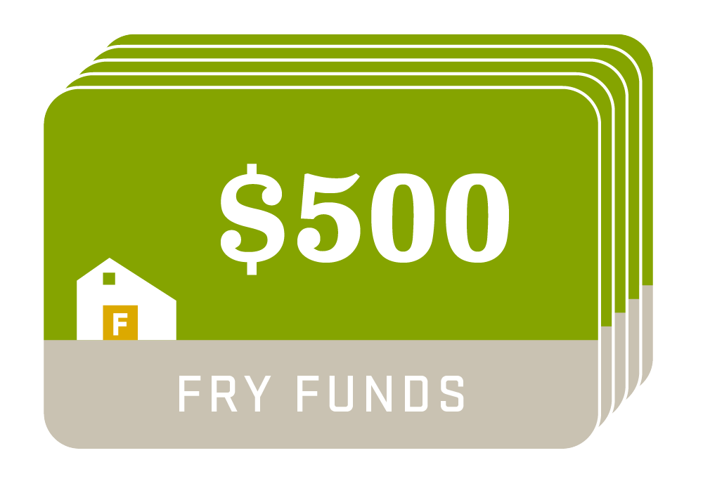 Fry Family Farm funds $500