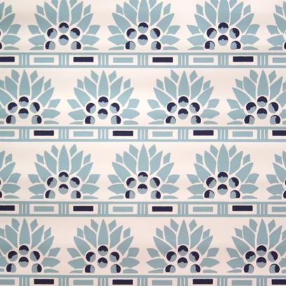 Aqua Blue on White