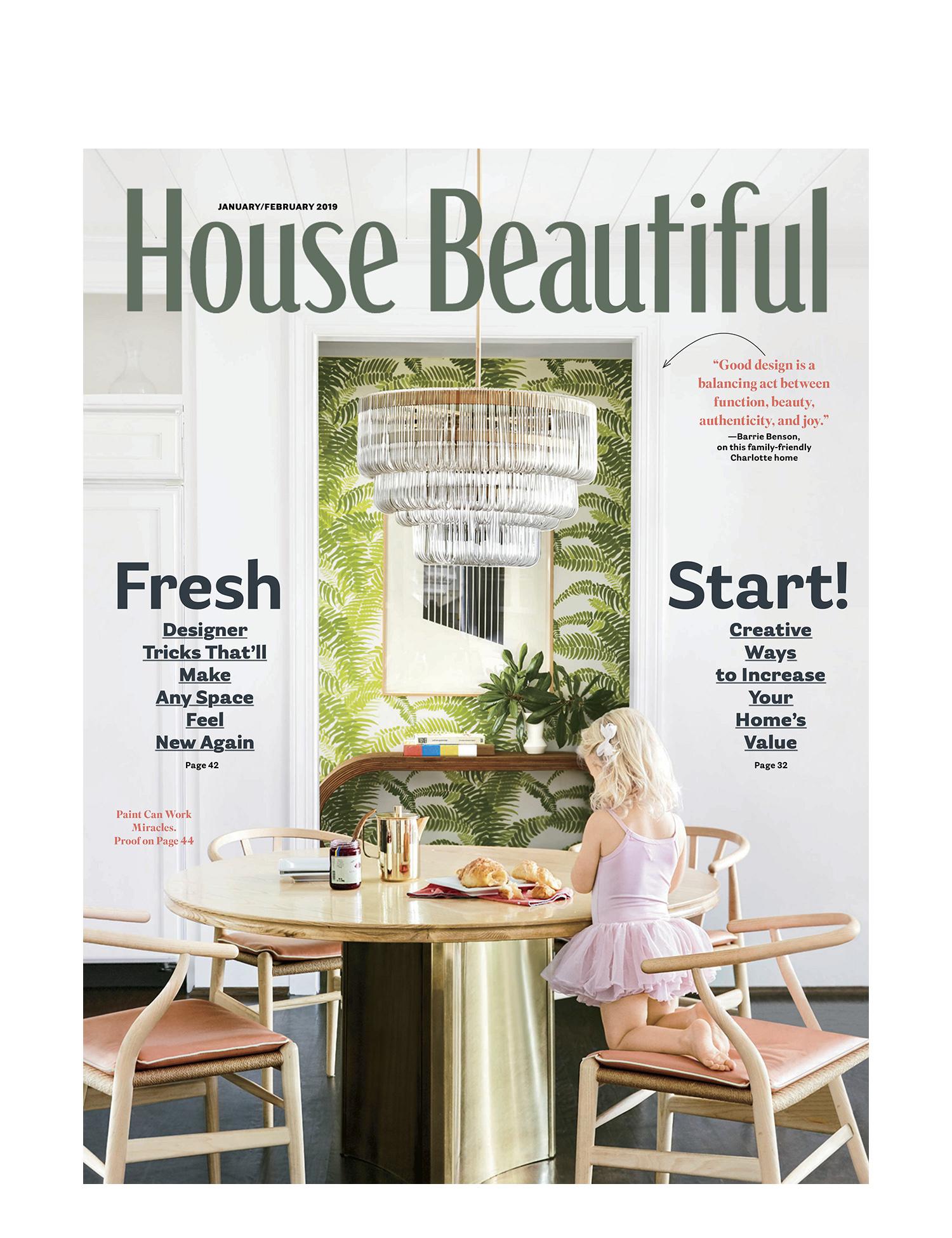 House Beautiful Jan/Feb 2019 Design: Barrie Benson