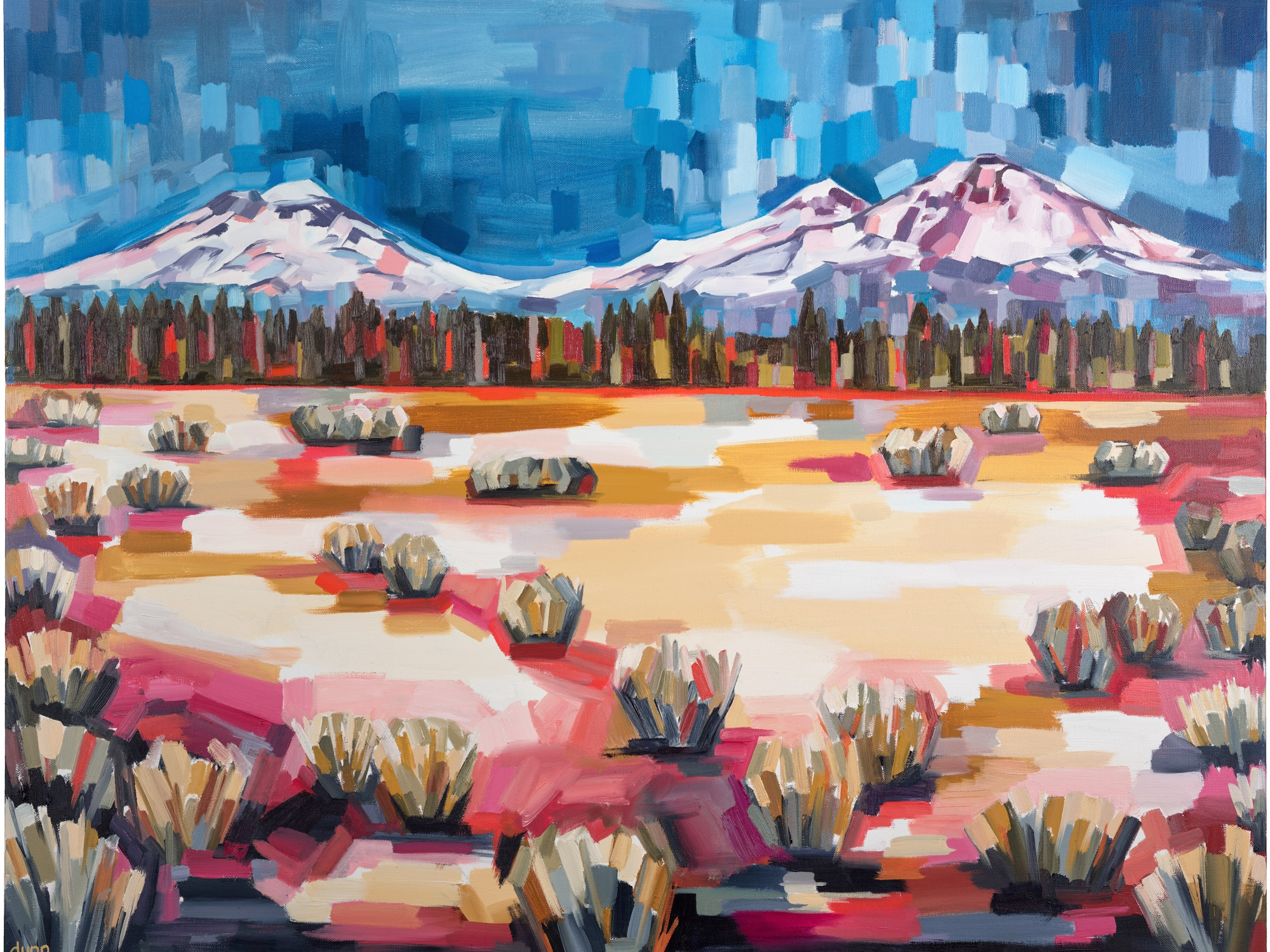 THREE SISTERS, oil on canvas, 30 x 40 inches -10% of print sales to the Conservation Alliance