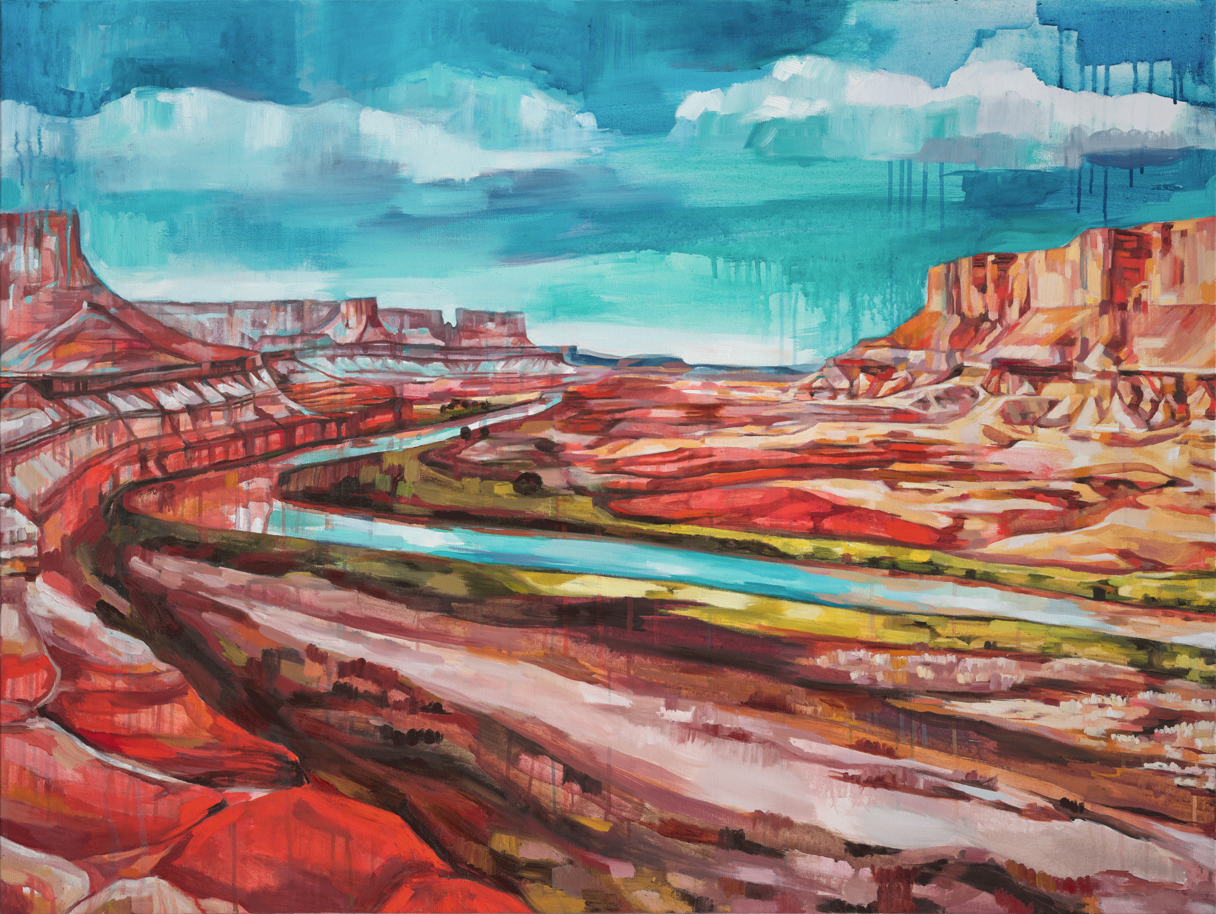 CANYONLANDS, oil on canvas, 36 x 48 inches -10% of print sales to the Conservation Alliance.