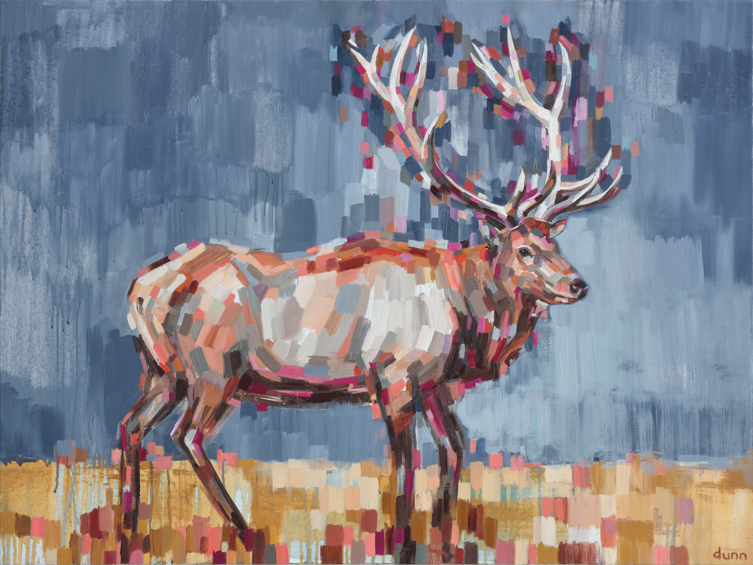 ROCKY MOUNTAIN ELK, oil on canvas, 36 x 48 inches -prints available below