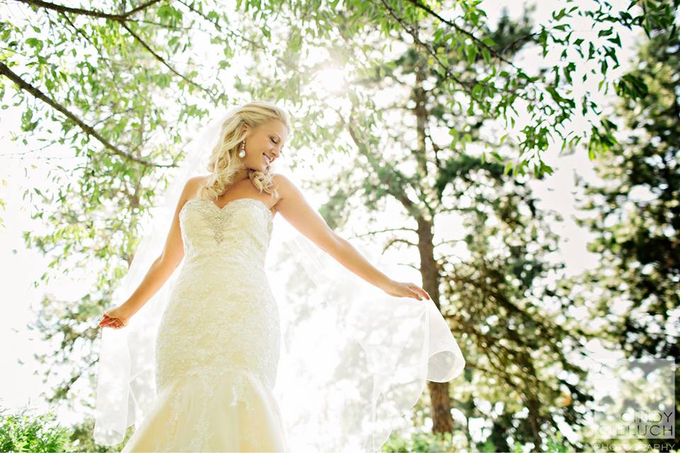 Bride in Sunlit Trees, ©  Cindy Cieluch  (cindycieluch.com),