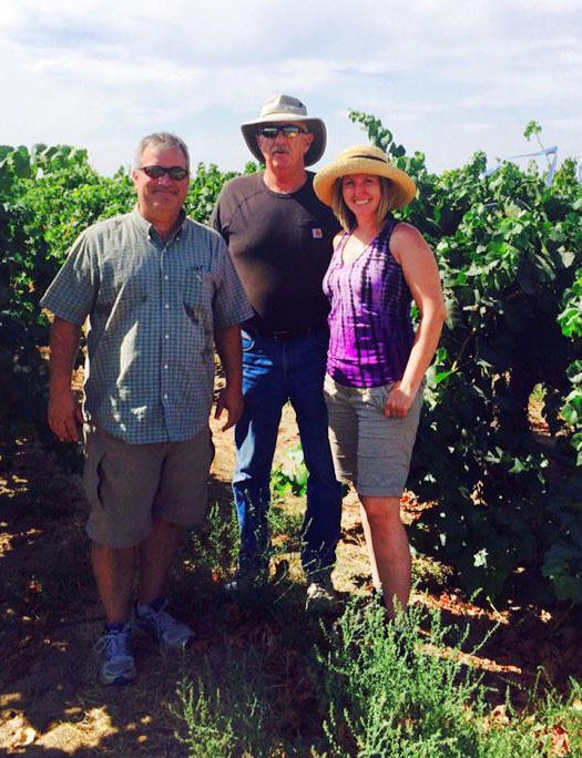 Our Director of Winemaking,  Kristina Mielke-van Loben Sels , and her team checking in on the fruit at the Conner Lee Vineyard