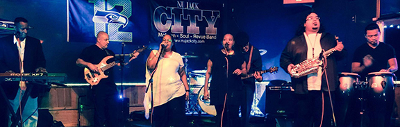 """Stay for some uptown funk at the Sunday """"Concert on the Cliff"""" with Nu Jack City!"""