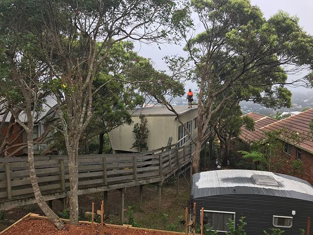 Uncovered some fantastic 1960s building work last week @copasprings. We removed the old cantilevering eave and braced the old girl before installing new kliplok roof. Timed the job perfectly with the rain 😳