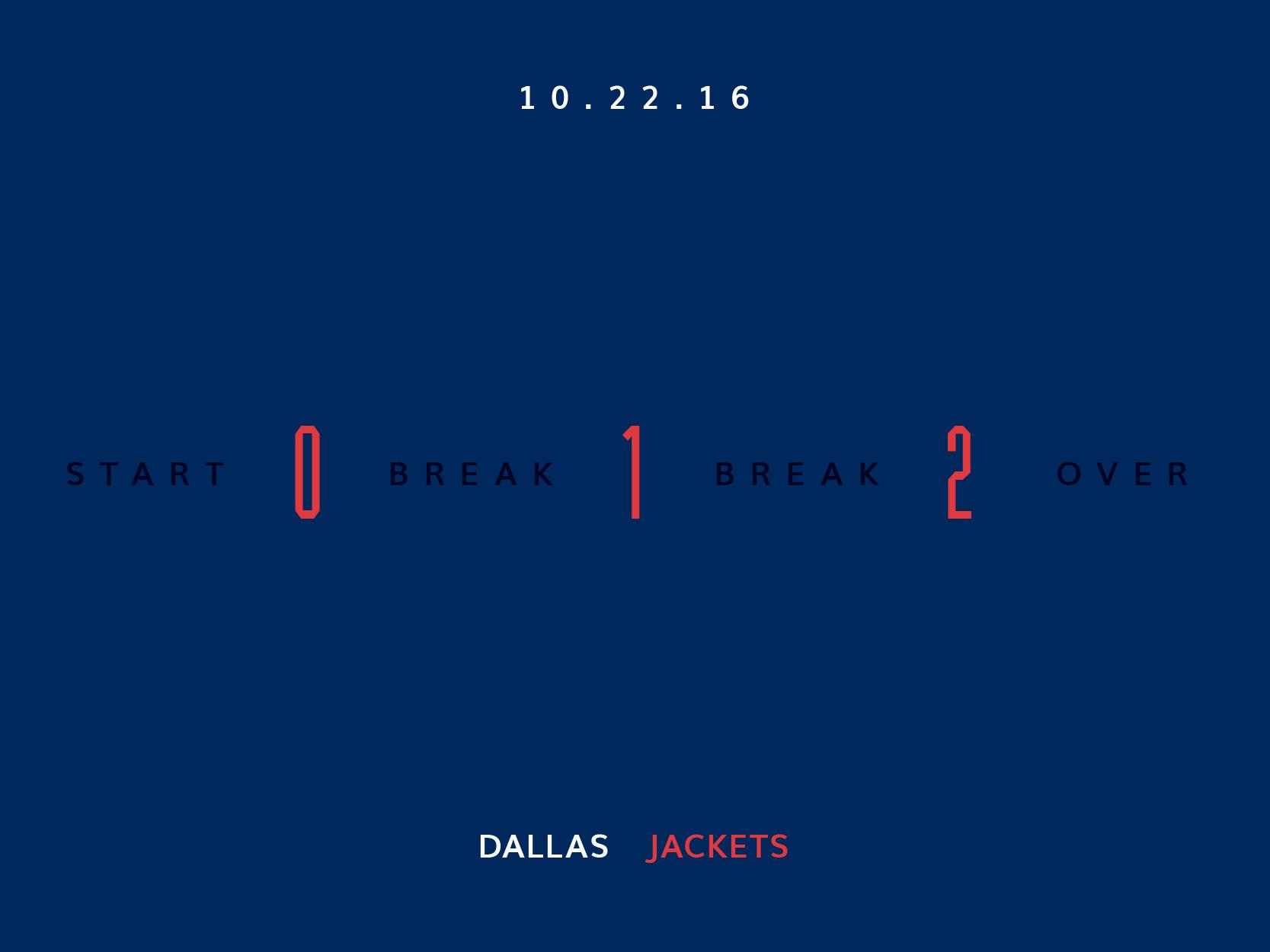 Blue Jackets Score October 22, 2016