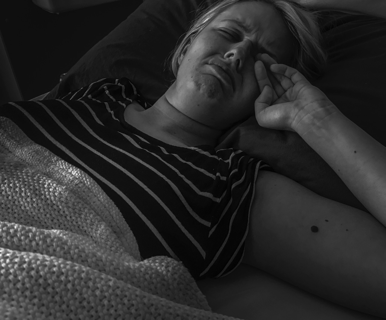 Though this isn't a pretty picture of my wife, it was a view I was met with on the weeks when her immune system hit rock bottom. In the midst of the pain was a sense of community in hospital, I can't begin to describe and I didn't feel the need to hide the reality of what we were going through, knowing it would be fine.