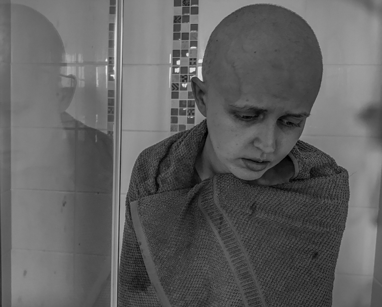 The raw vulnerability at this point in the journey was unhinging. Faye was holding on but because of her size and frame, chemo had hit her hard.  A lot of people thought she was brave but she didn't feel it...