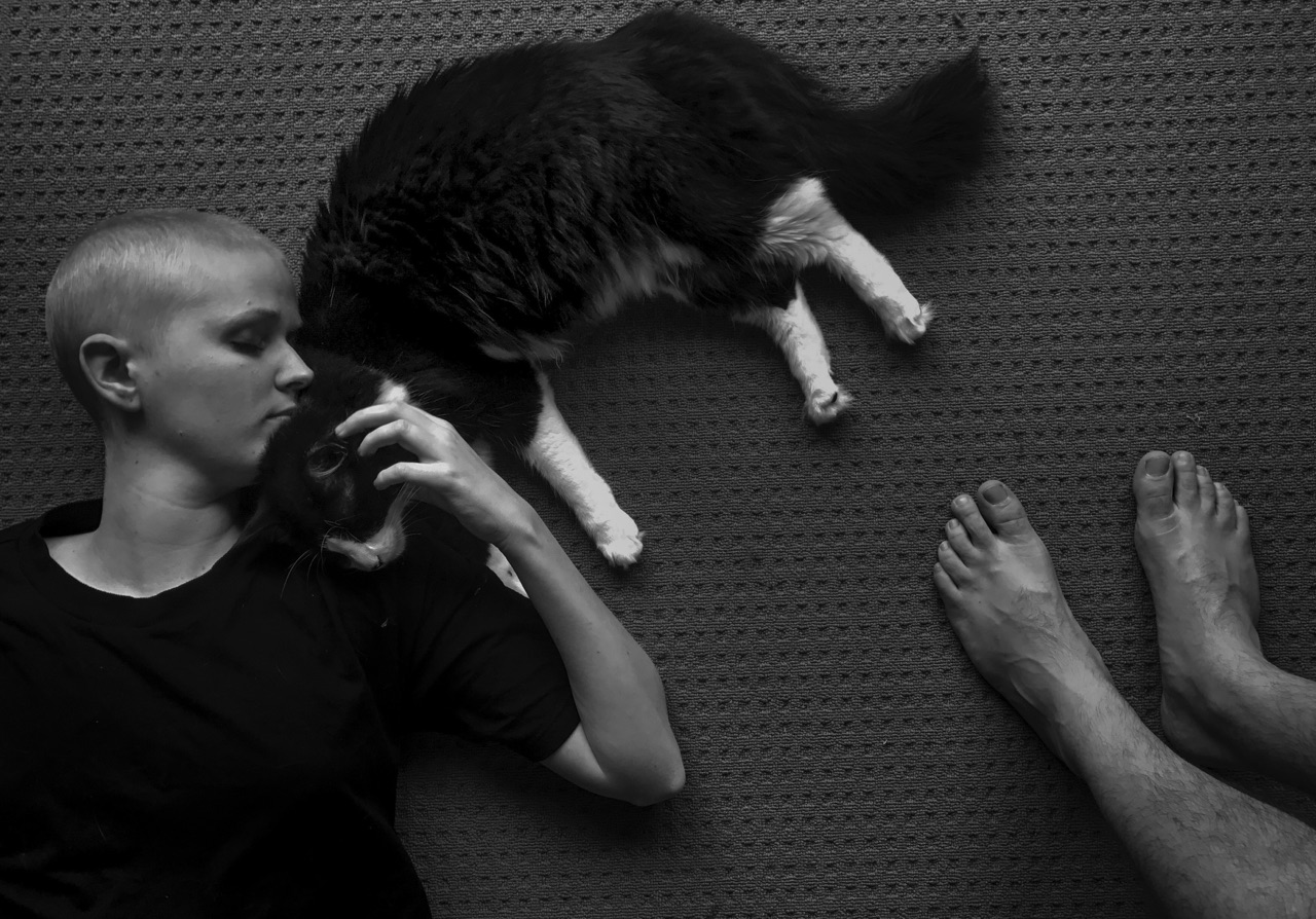 We became ok with a stripped back life. We knew what was important and learnt what family is there for. Surprisingly the greatest companions were our two cats...no words, just company. I learnt from them that being there and not feeling the need to intervene or fix things, was what sometimes worked best.