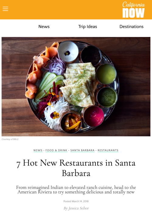 Visit California -  7 Hot new restaurants in Santa Barbara