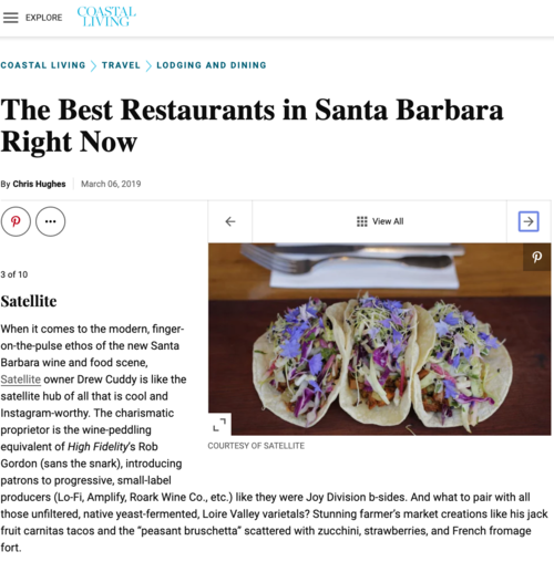Best Restaurants in Santa Barbara - Satellite