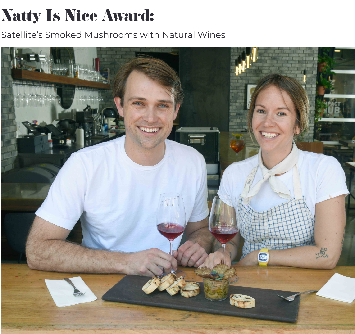 Drew Cuddy and Emma West - Santa Barbara Foodies Awards 2019