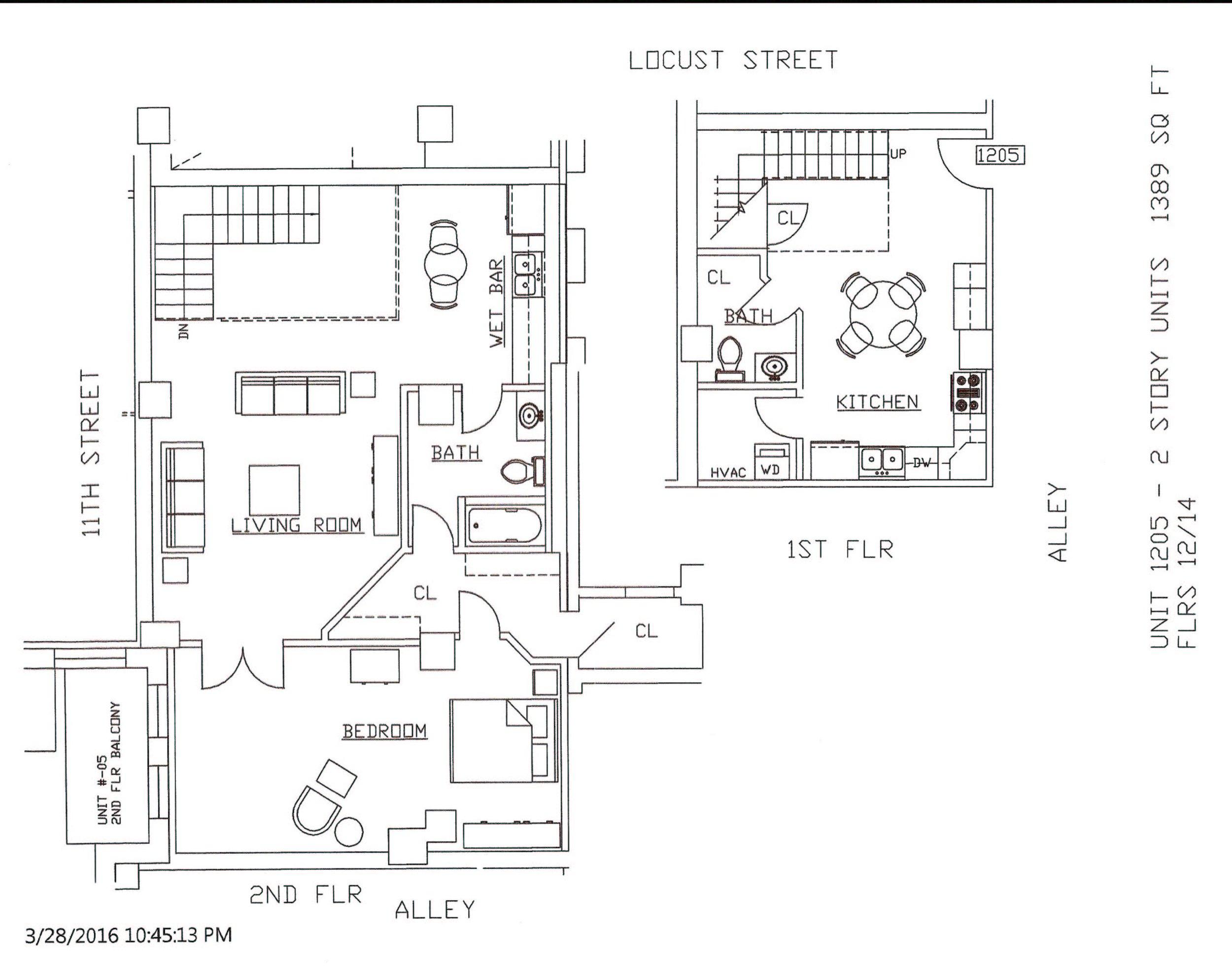 Unit 1205, 1389 Square Feet