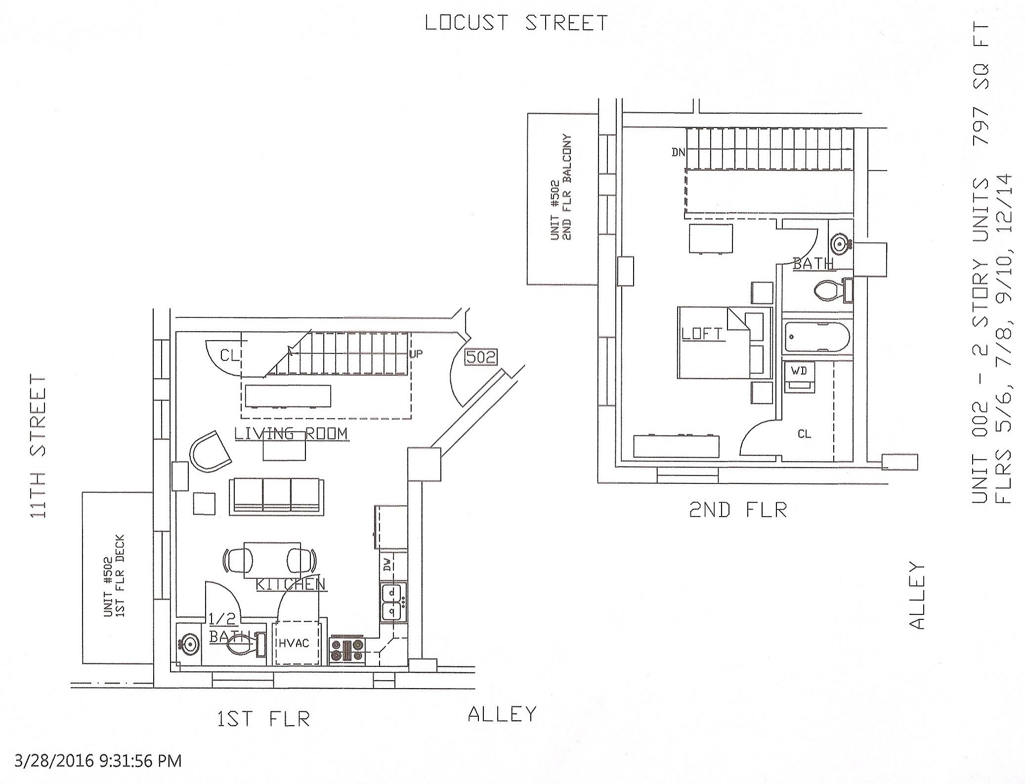 Unit 02, 797 Square Feet