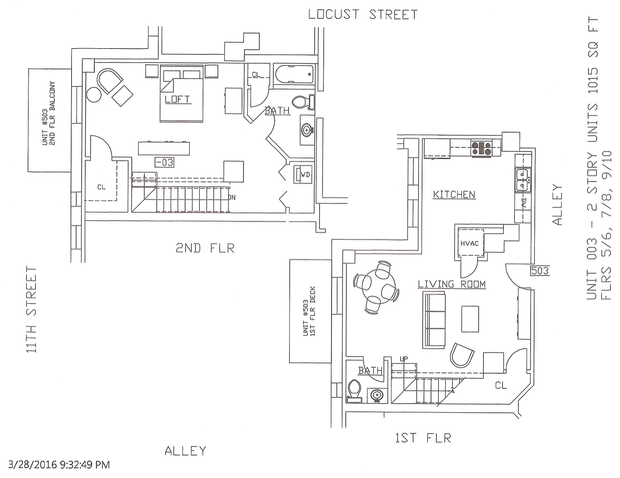 Unit 03, 1015 Square Feet