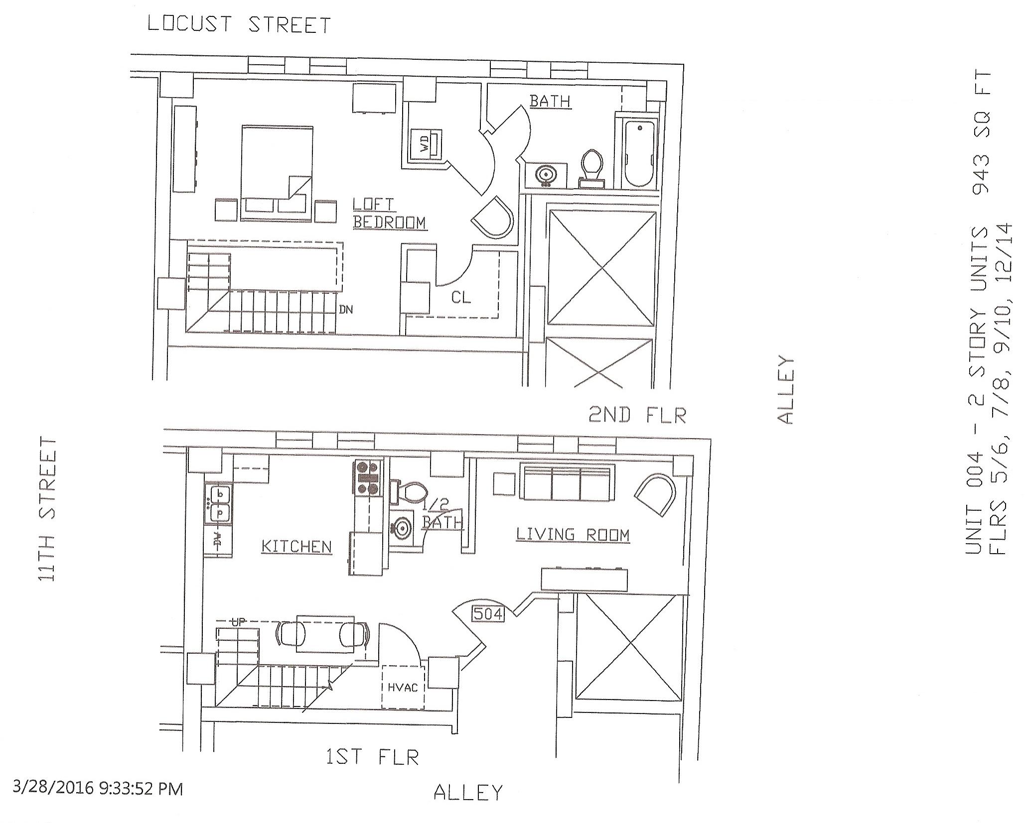 Unit 04, 943 Square Feet