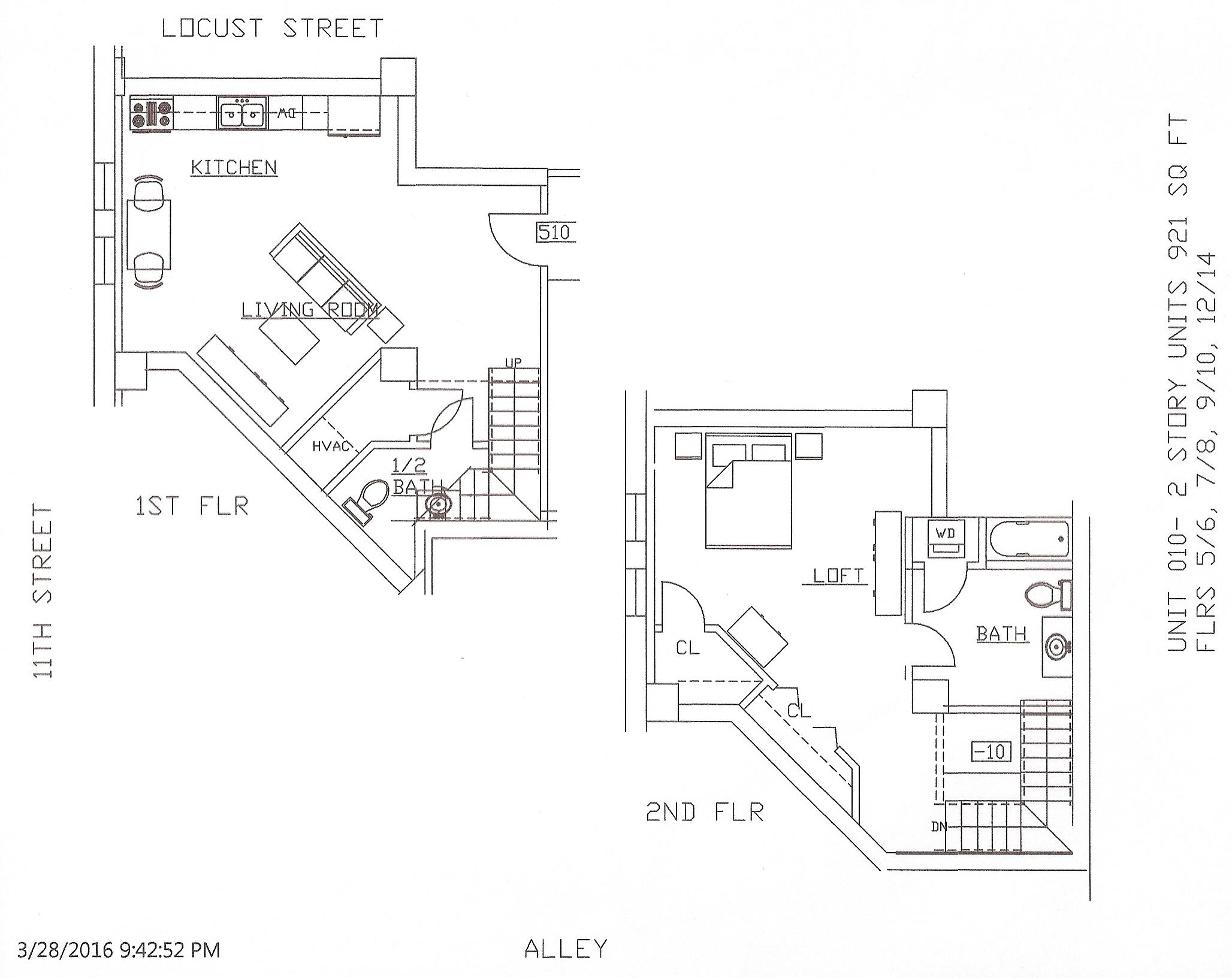 Unit 10, 921 Square Feet