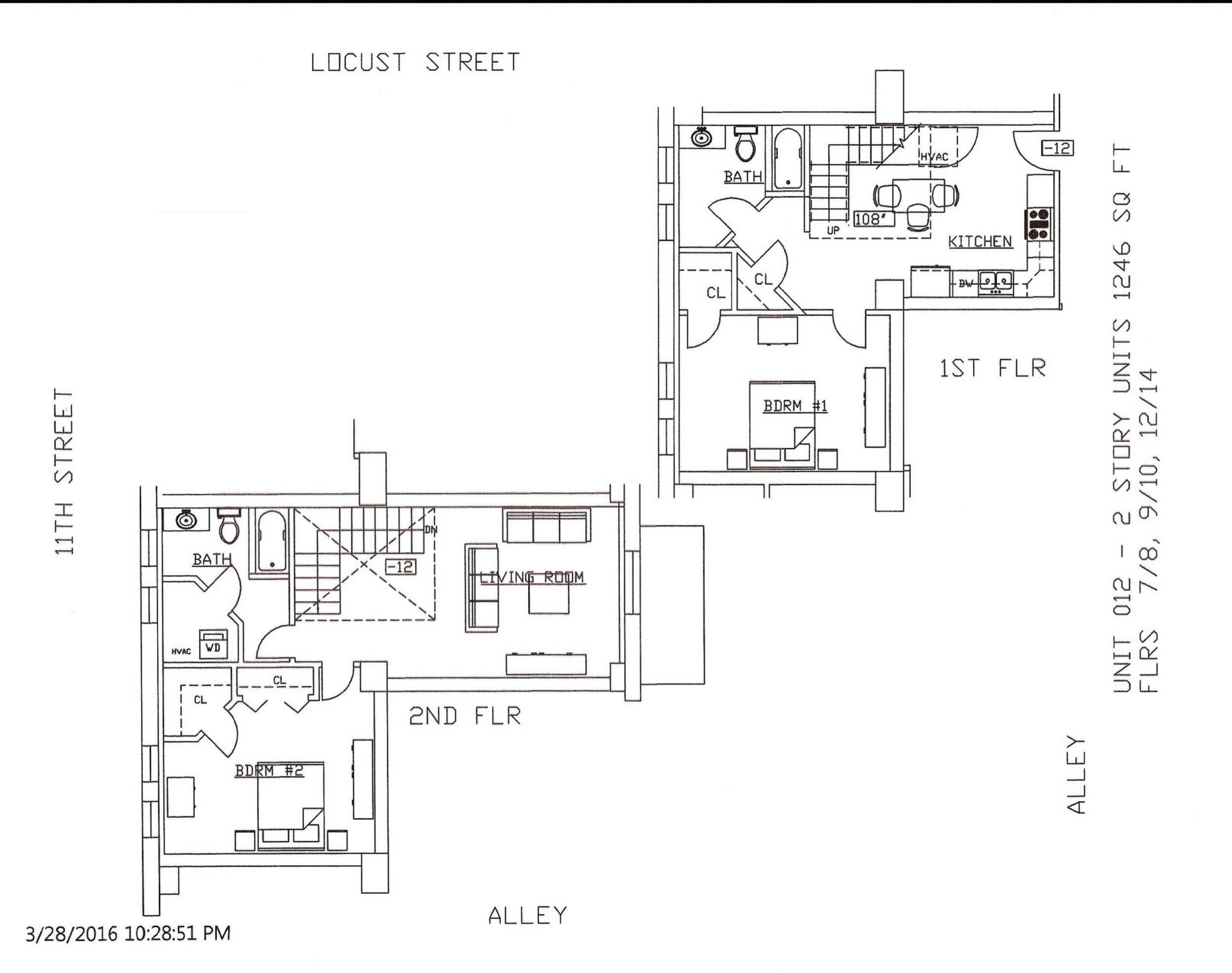 Unit 12, 1246 Square Feet