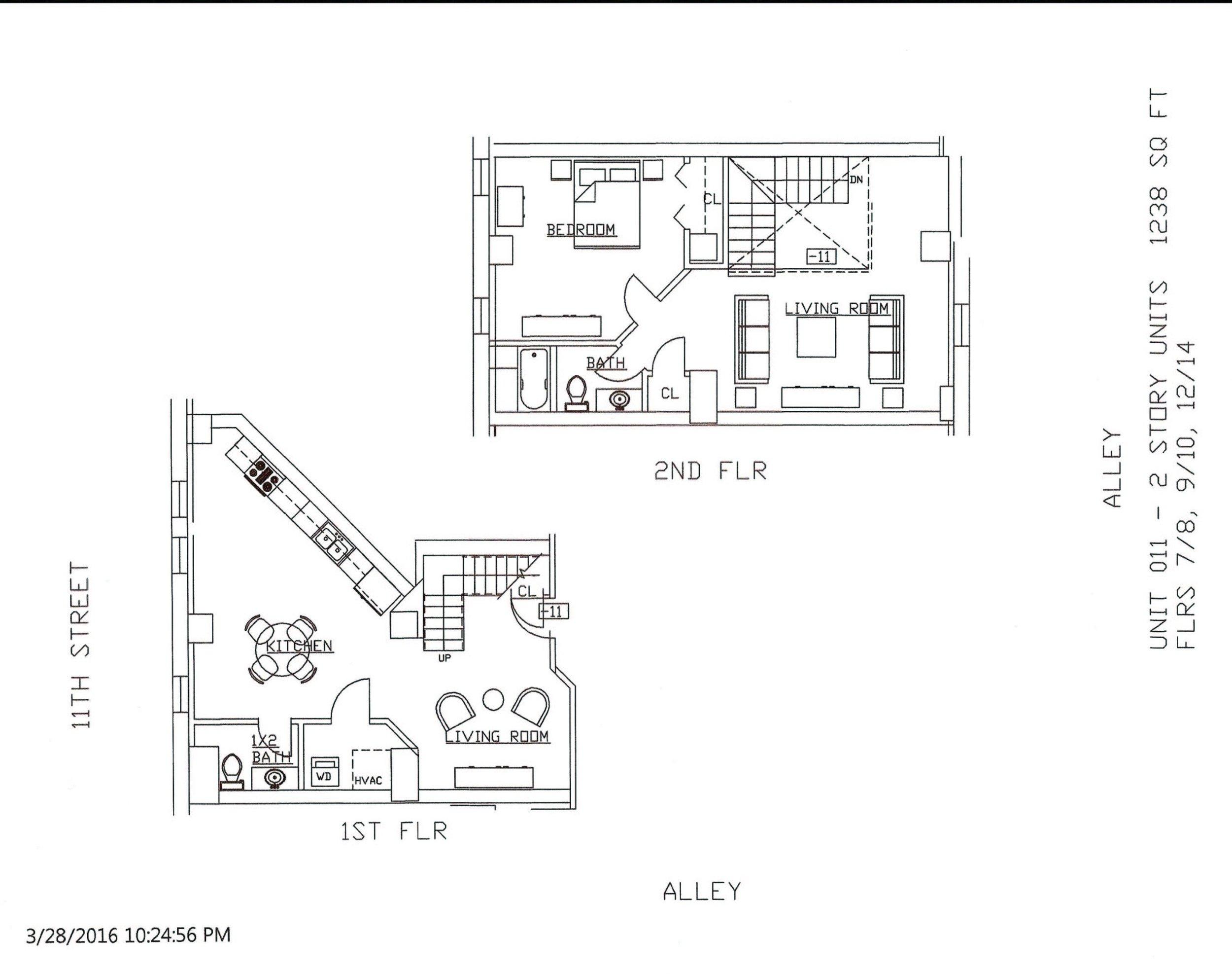 Unit 11, 1238 Square Feet