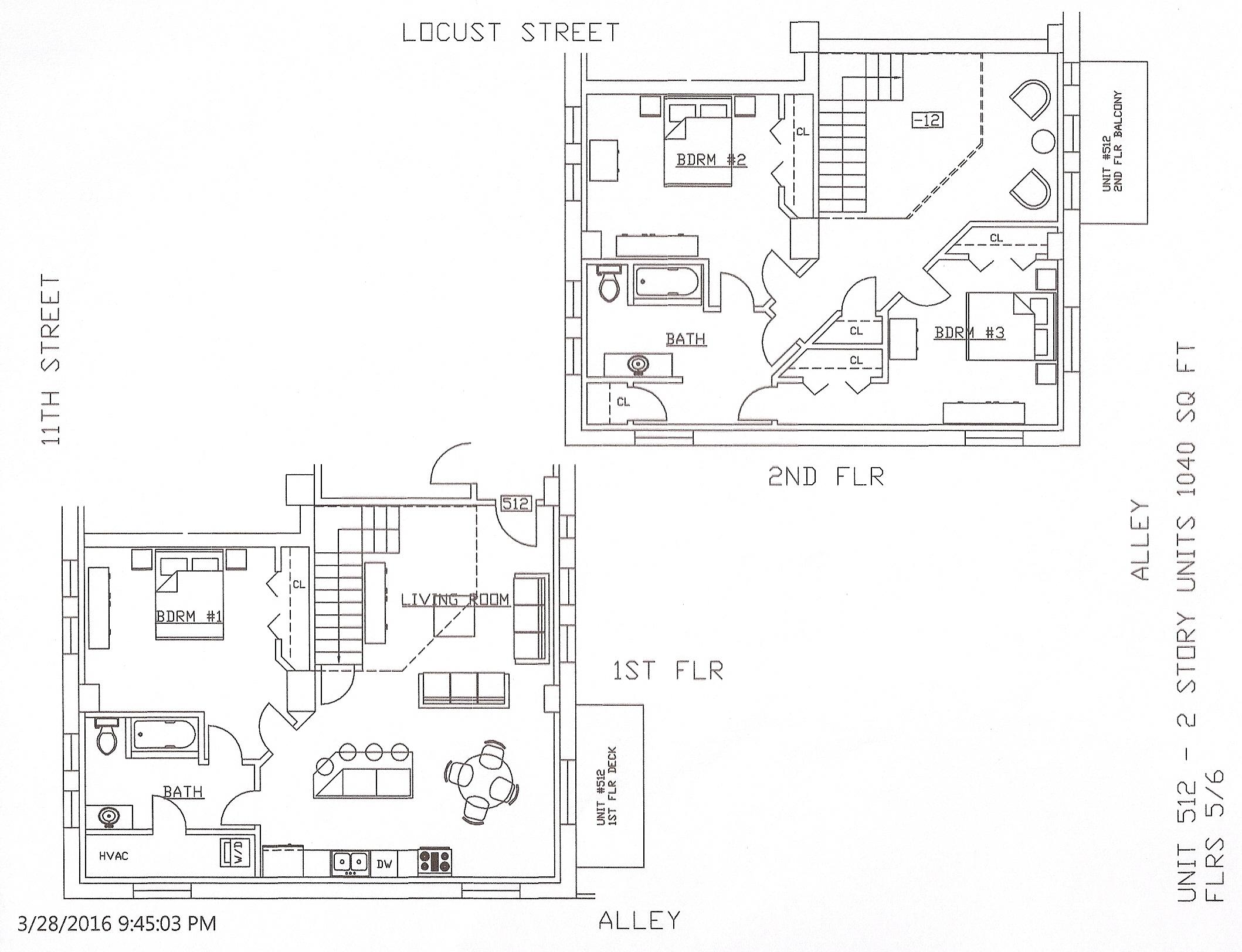 Unit 512, 1040 Square Feet