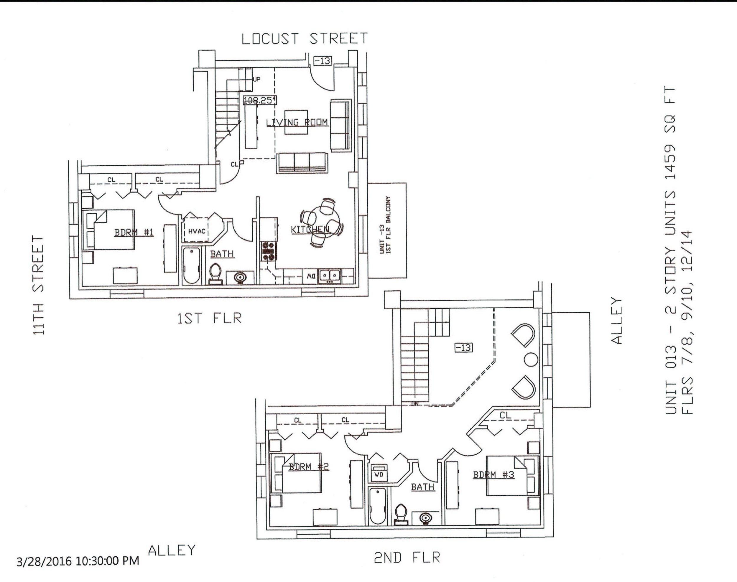 Unit 13, 1459 Square Feet