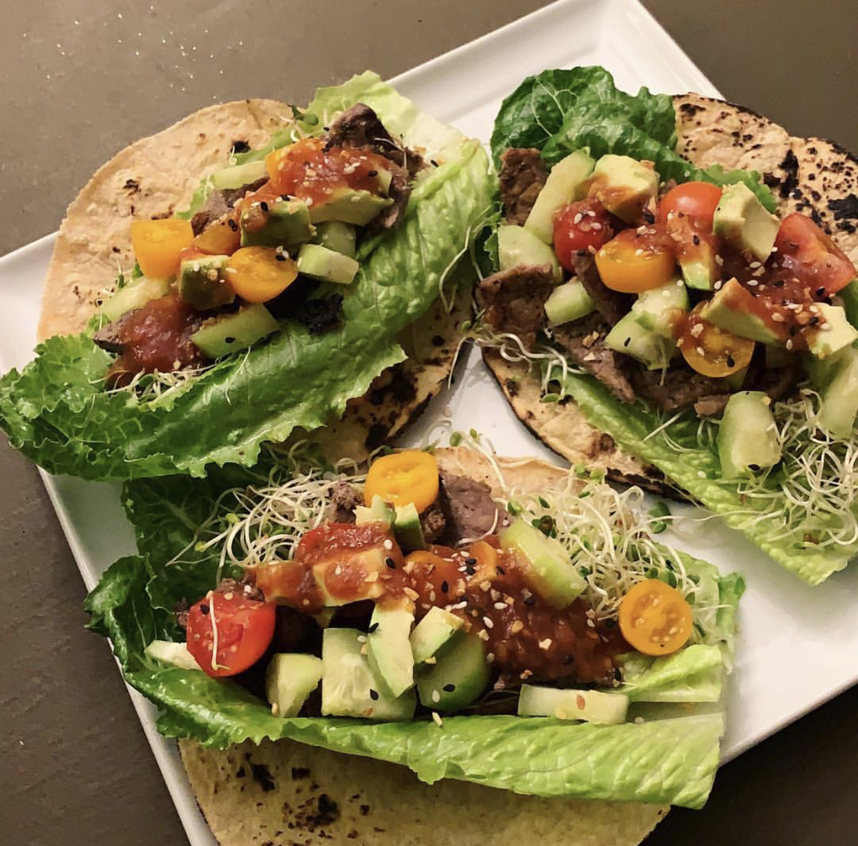 P.S. If you would like this recipe to these Steak Tacos…. Feel free to click on the picture and you will be taken right over to it! :)