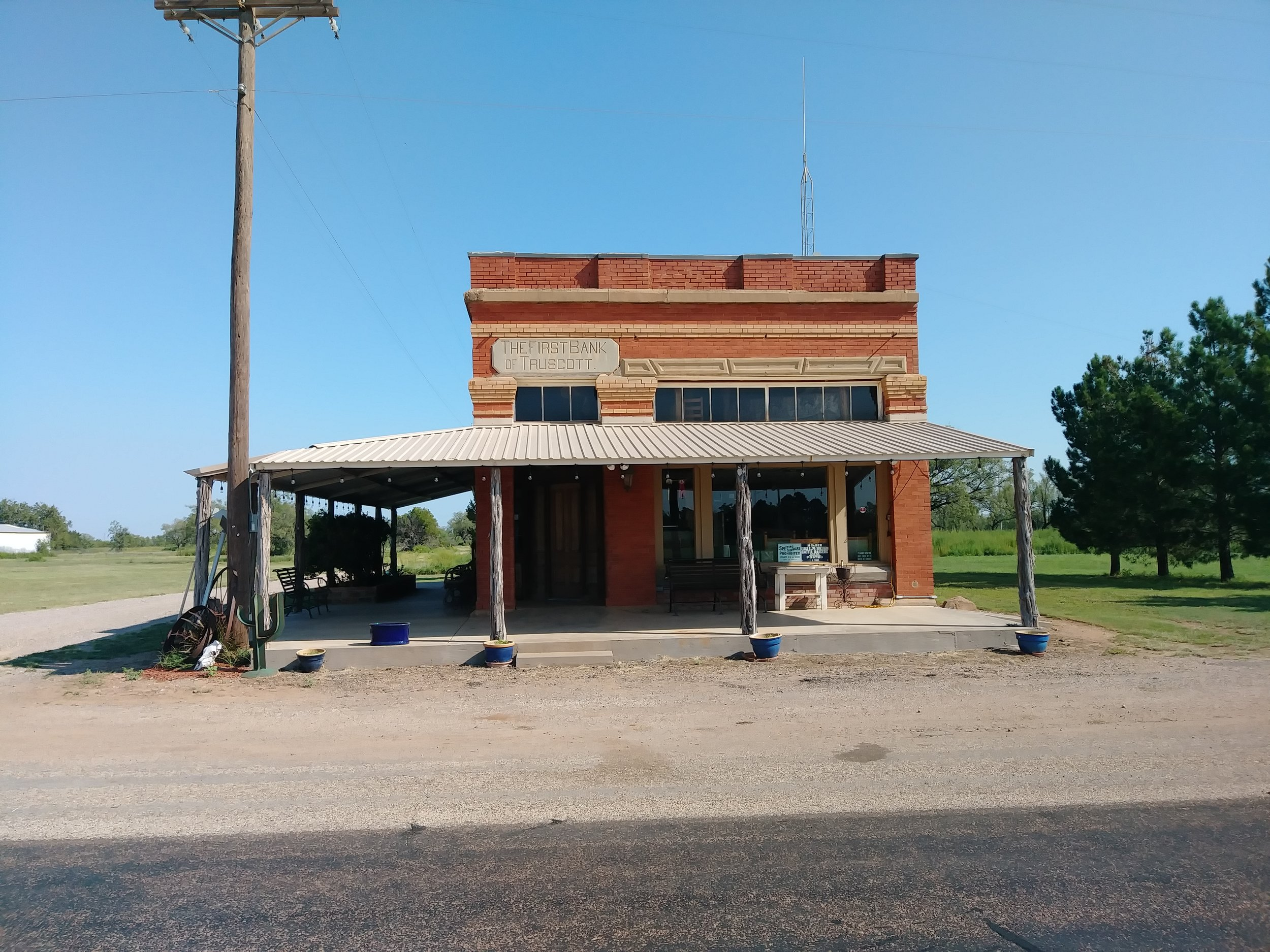 Circle Bar Ranch Bank Building Office and Ranch Business Head Quarters