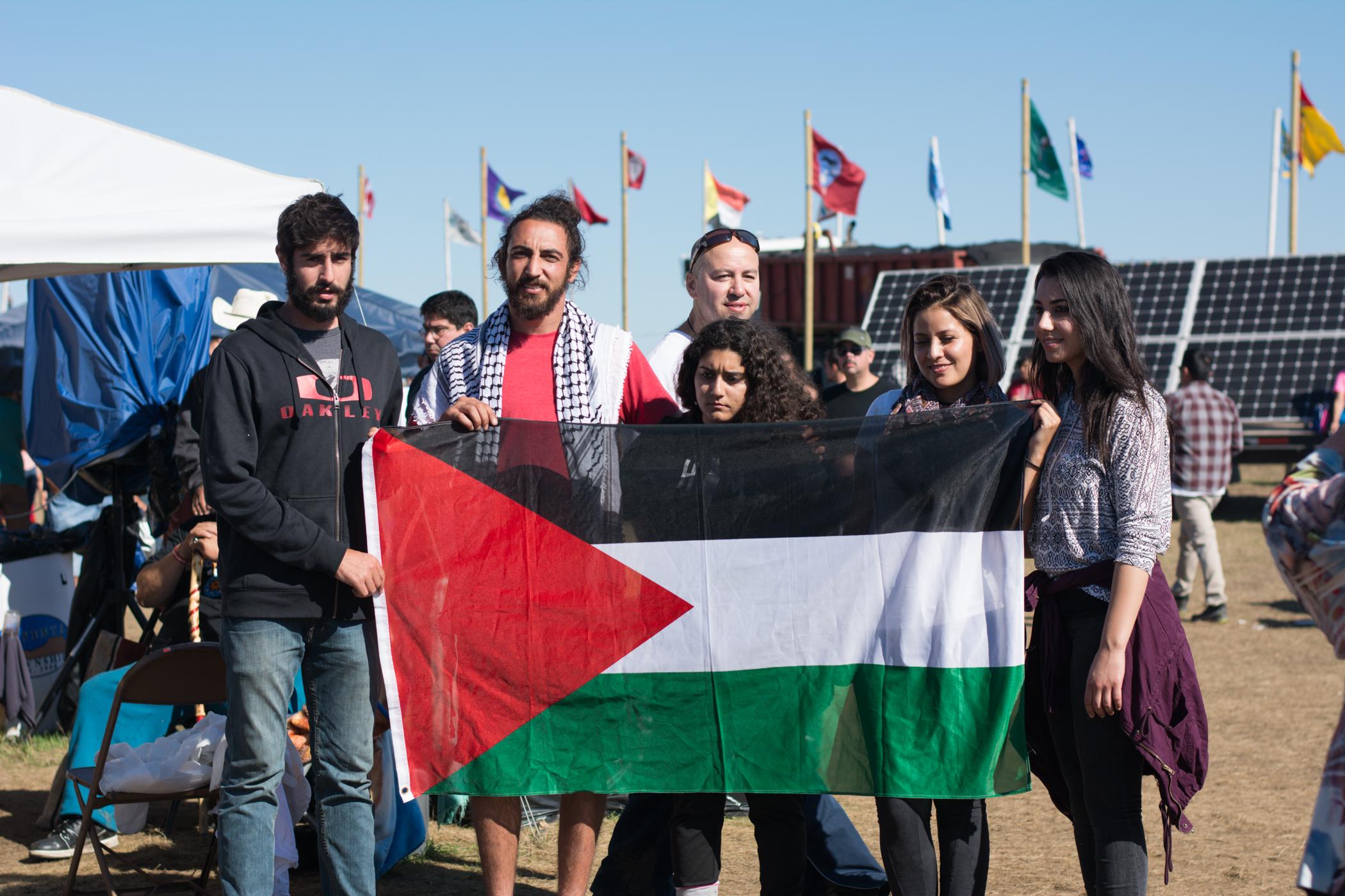 Representing Palestine.