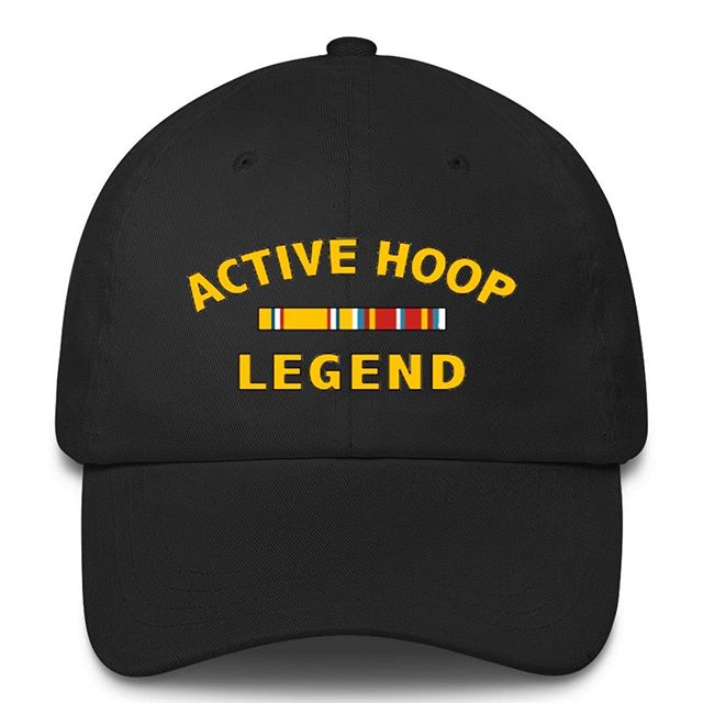 "Okay so you couldn't bare to imagine yourself as ""retired"" from the game just yet. NO PROBLEM. We've got you covered. Wear your story. ""Active Hope Legend"" #hoopveteran #hoop #basketball #hooplegend #shootyourshot #active #hat #hats #accesories #fashion @hoopveteran . . . . www.hoopveteran.com ORDER NOW."