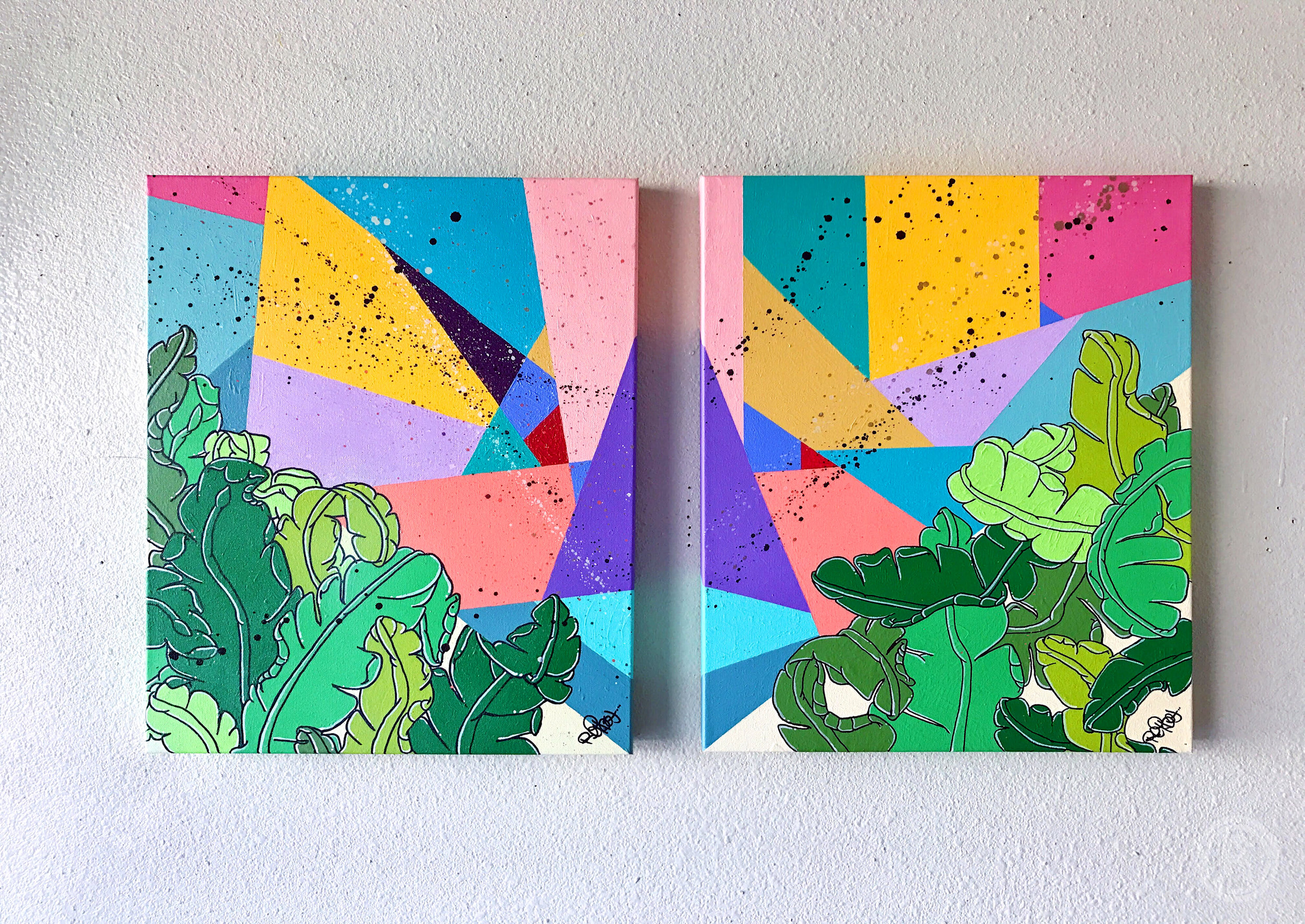 """""""RELAXXATION PT. I & II"""" (DIPTYCH)"""
