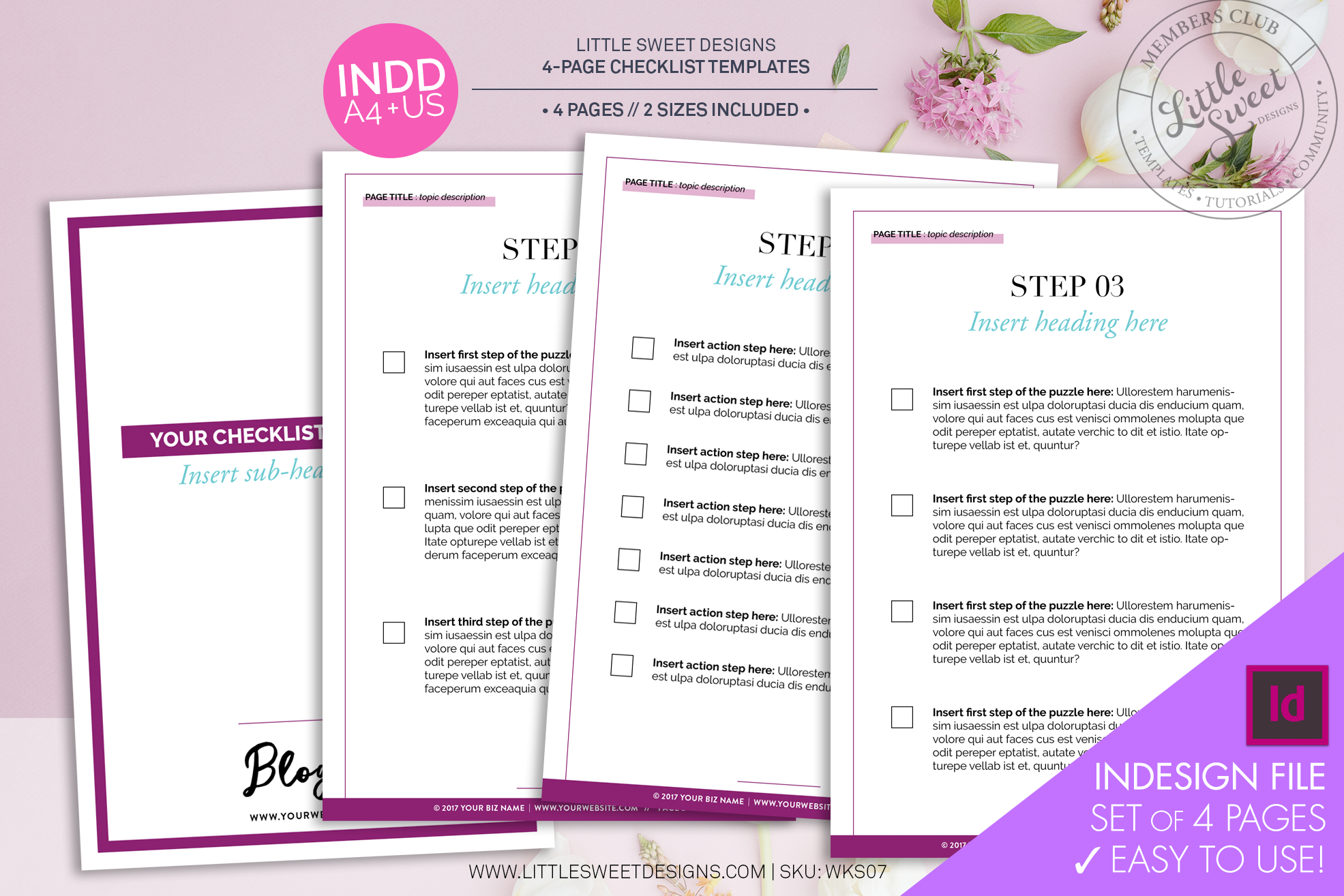 Note: This set of templates uses 'Master Pages' (for advanced users) - 'How-to' lesson can be found  here .