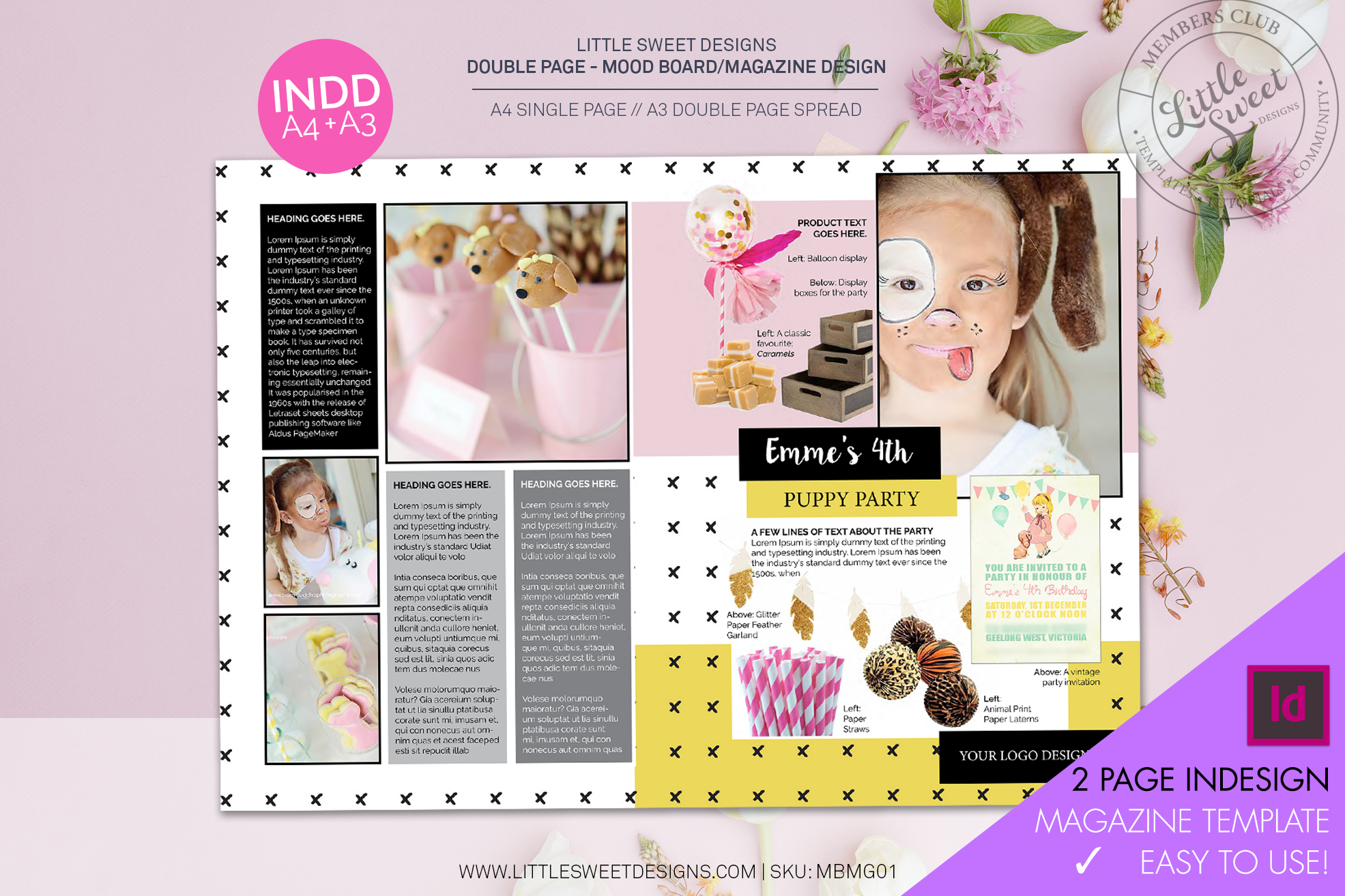 Watch the Video  here  on ' how to edit this template design ' in InDesign.