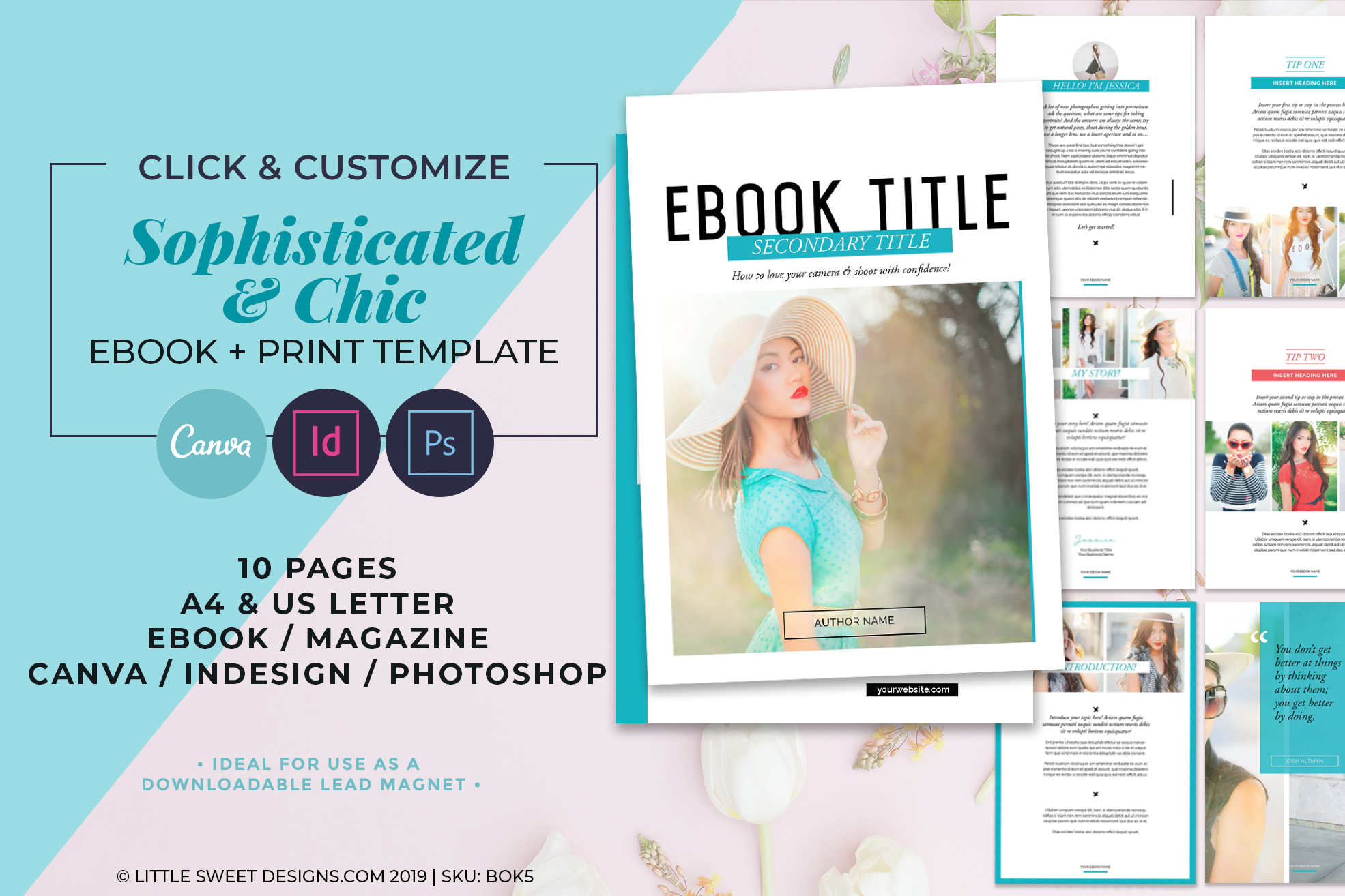 10 Page eBook & Magazine Template