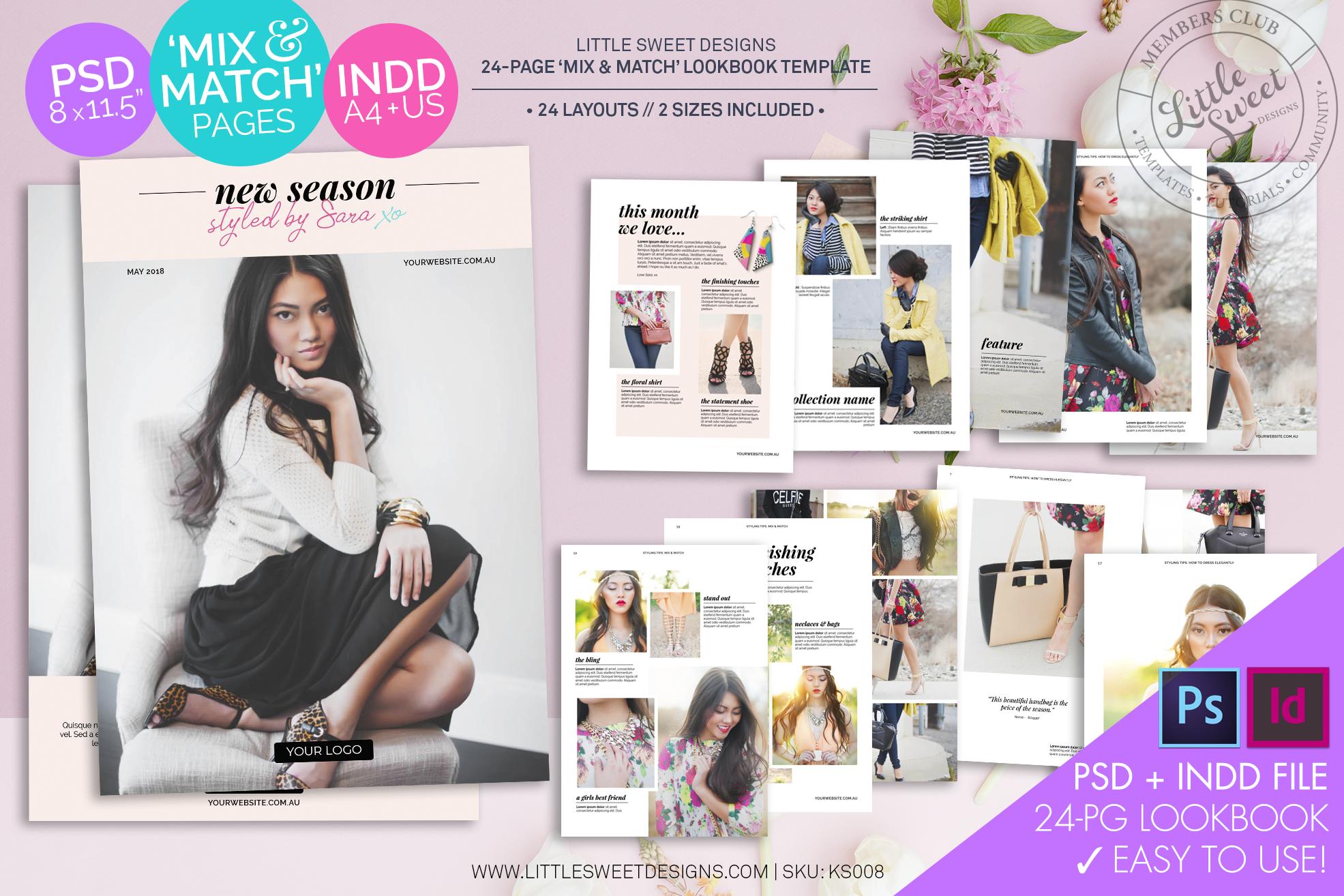 24 Page Lookbook - eBook & Magazine Template