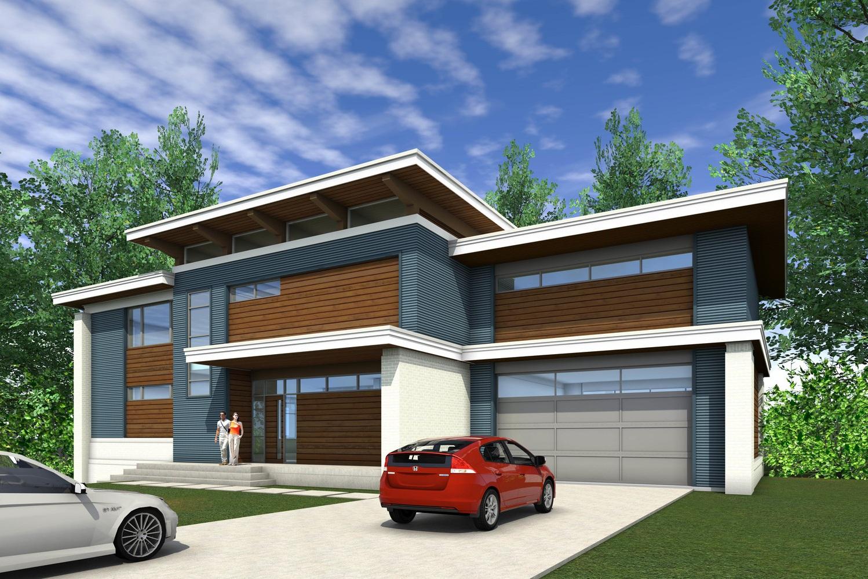 New modern home near Emory University in Atlanta custom designed for a family of five.