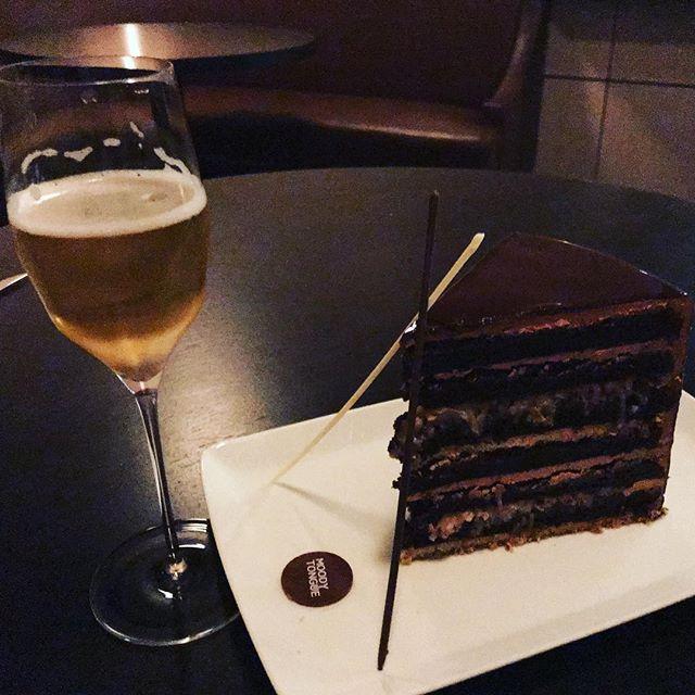 Truffle Pilsner and 12-layer German chocolate cake #birthday #latergram