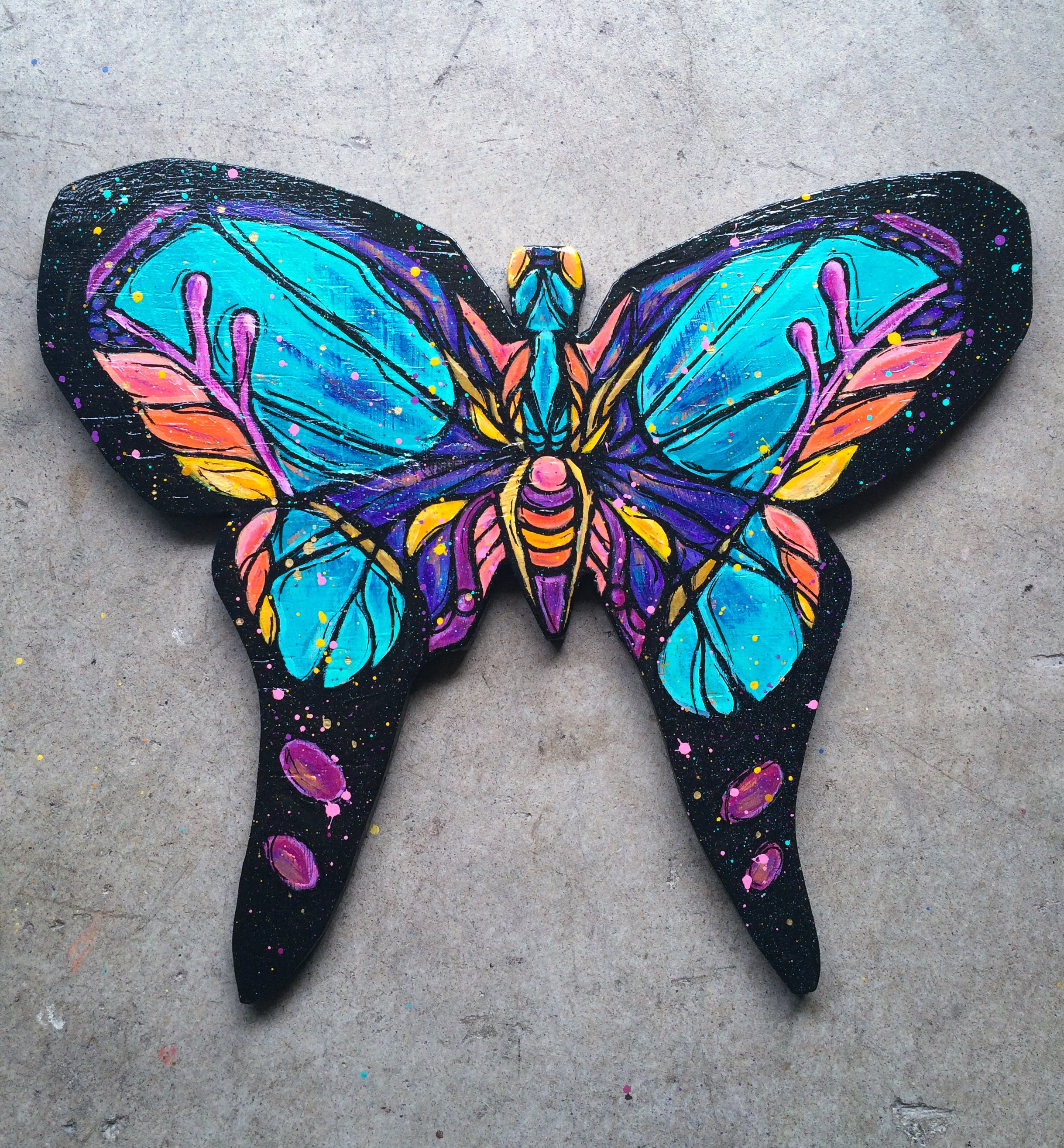 woodcut butterfly