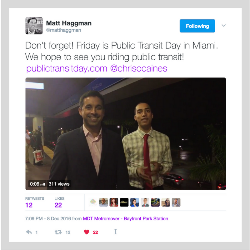 Our friends at the Knight Foundation helped us remind everyone to ride transit for Public Transit Day.