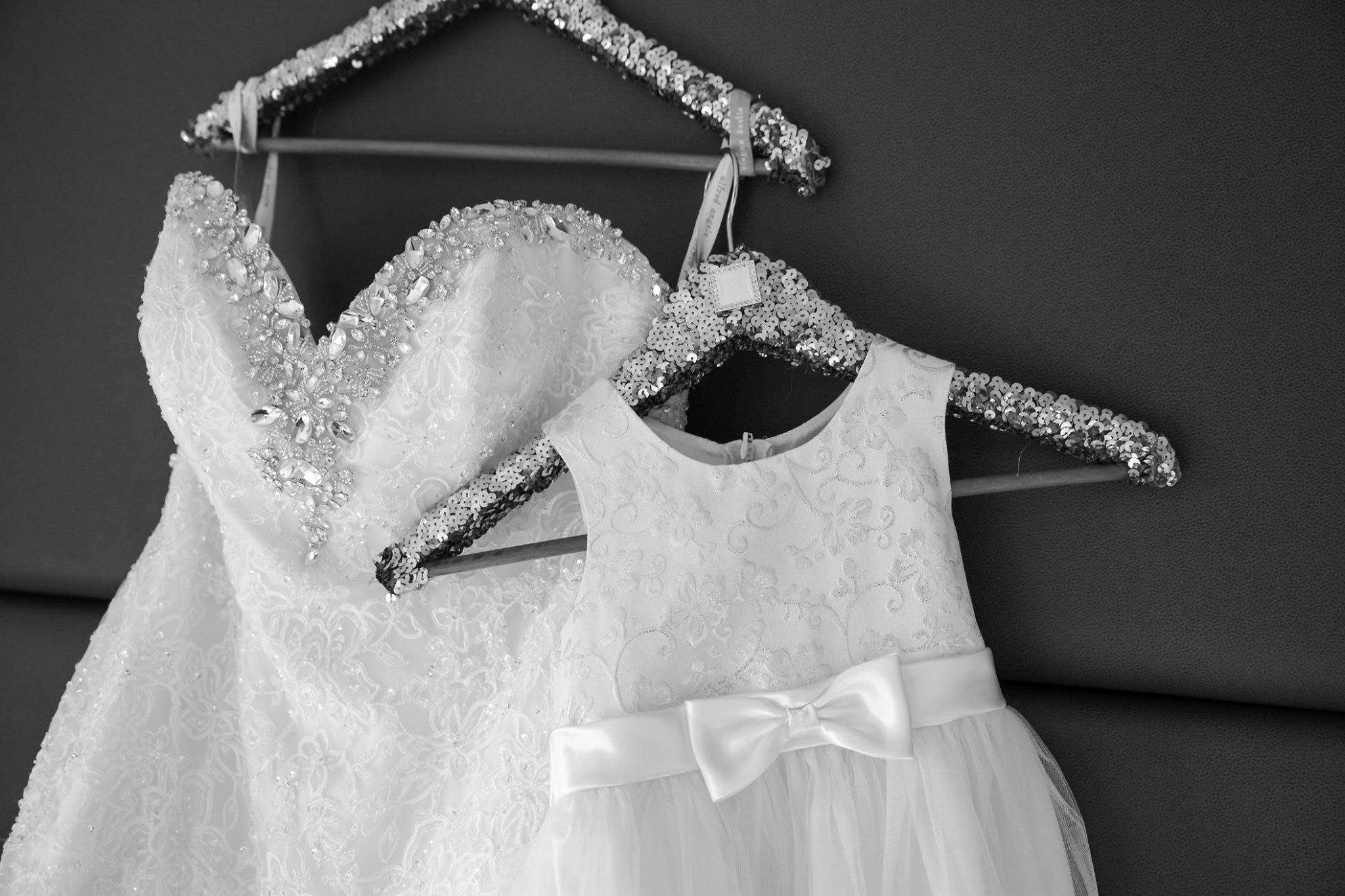 Jaquie's gorgeous dress with Jaylah's sweet flower girl dress