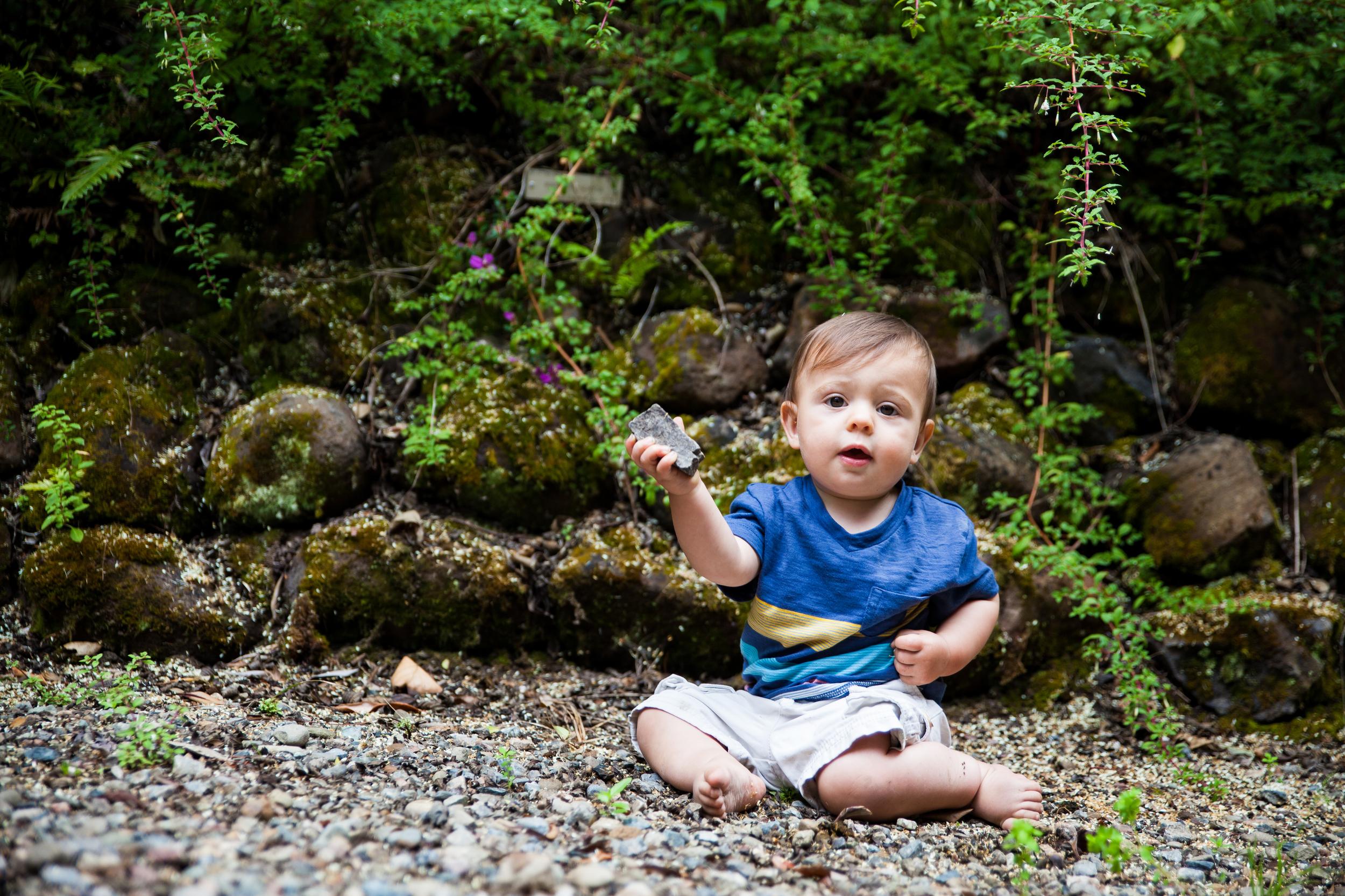 Rocks. This boy - always with rocks.