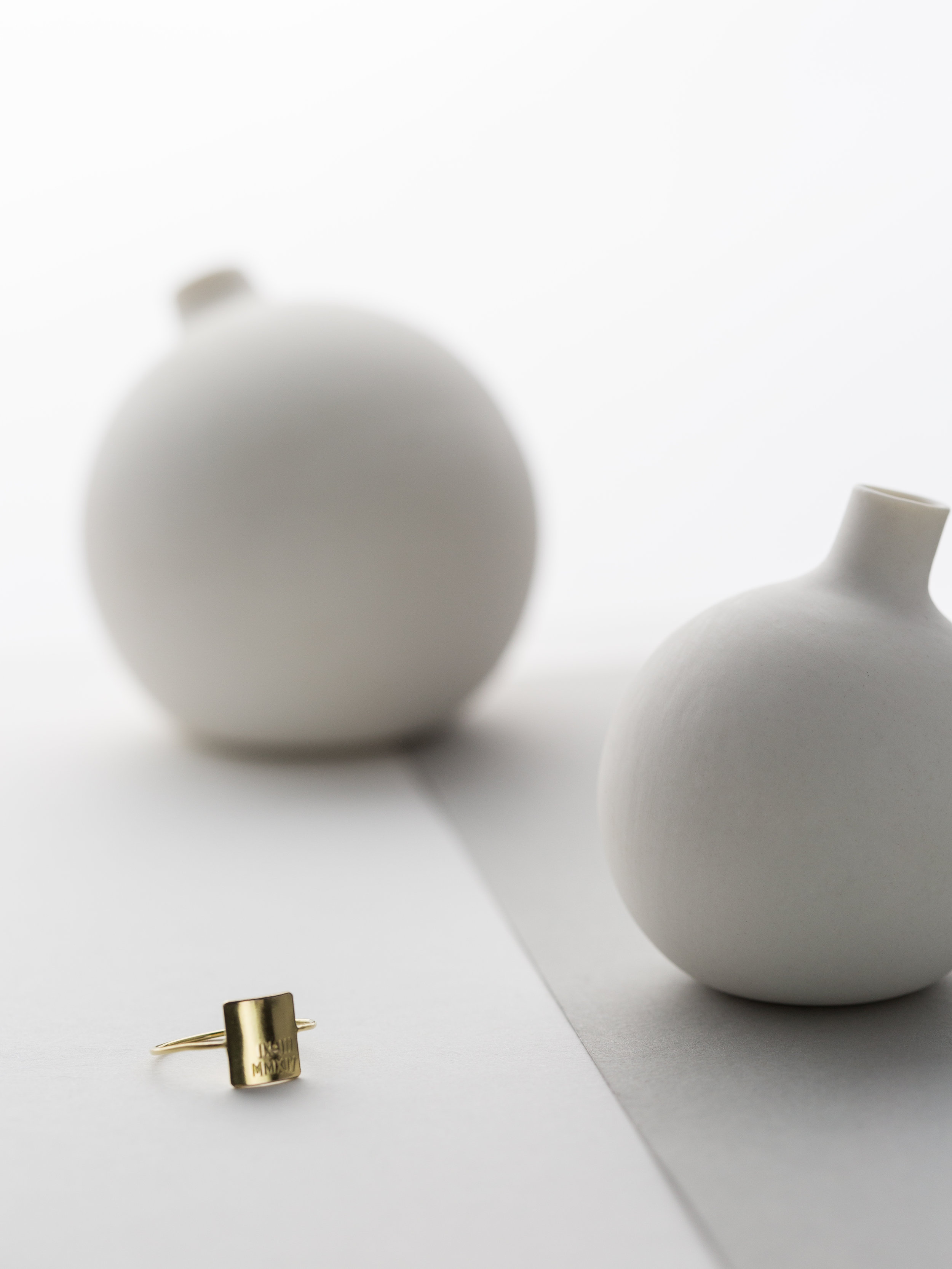 Porcelain Vessels:  TOKYO CRAFT STUDIOS , Ring: YARRA, Personalized (coming soon)