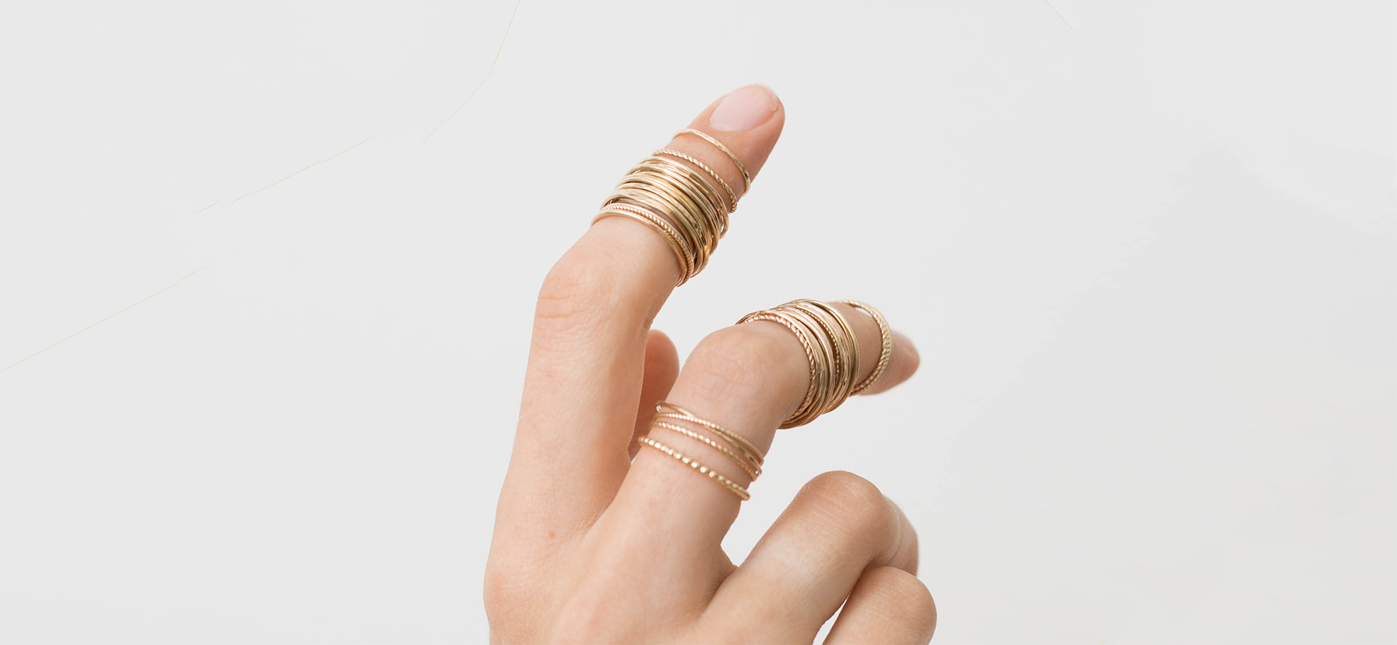 dainty stacker rings sizing