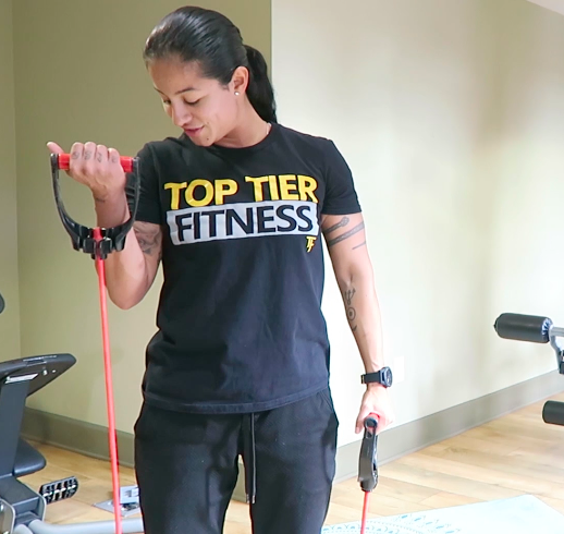 In Home Personal Trainer Bicep Curls