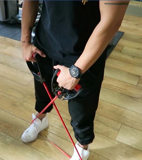 in home workout upright rows